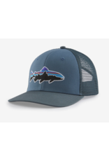 Patagonia Patagonia Fitz Roy Fish LoPro Trucker Hat (Plume Grey w/ Fitz Roy Trout)