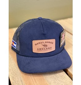 Stonebug Leather Patch Cord Trucker (NAVY)