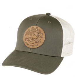 Orvis Orvis Cascadia Leather Patch Trucker (Olive)
