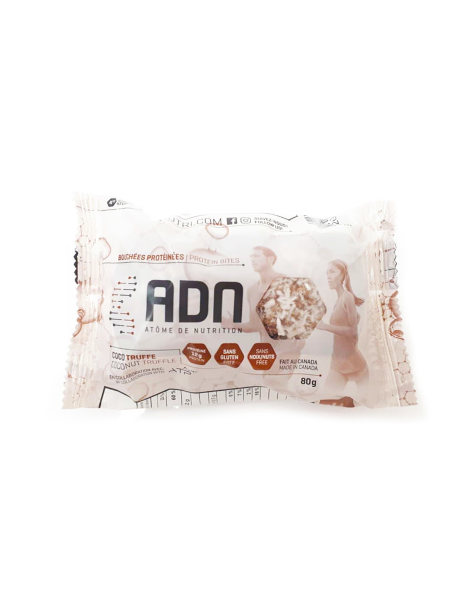AdnNutri AdnNutri - Bouchées de Protéines, Coco Truffe (40g)