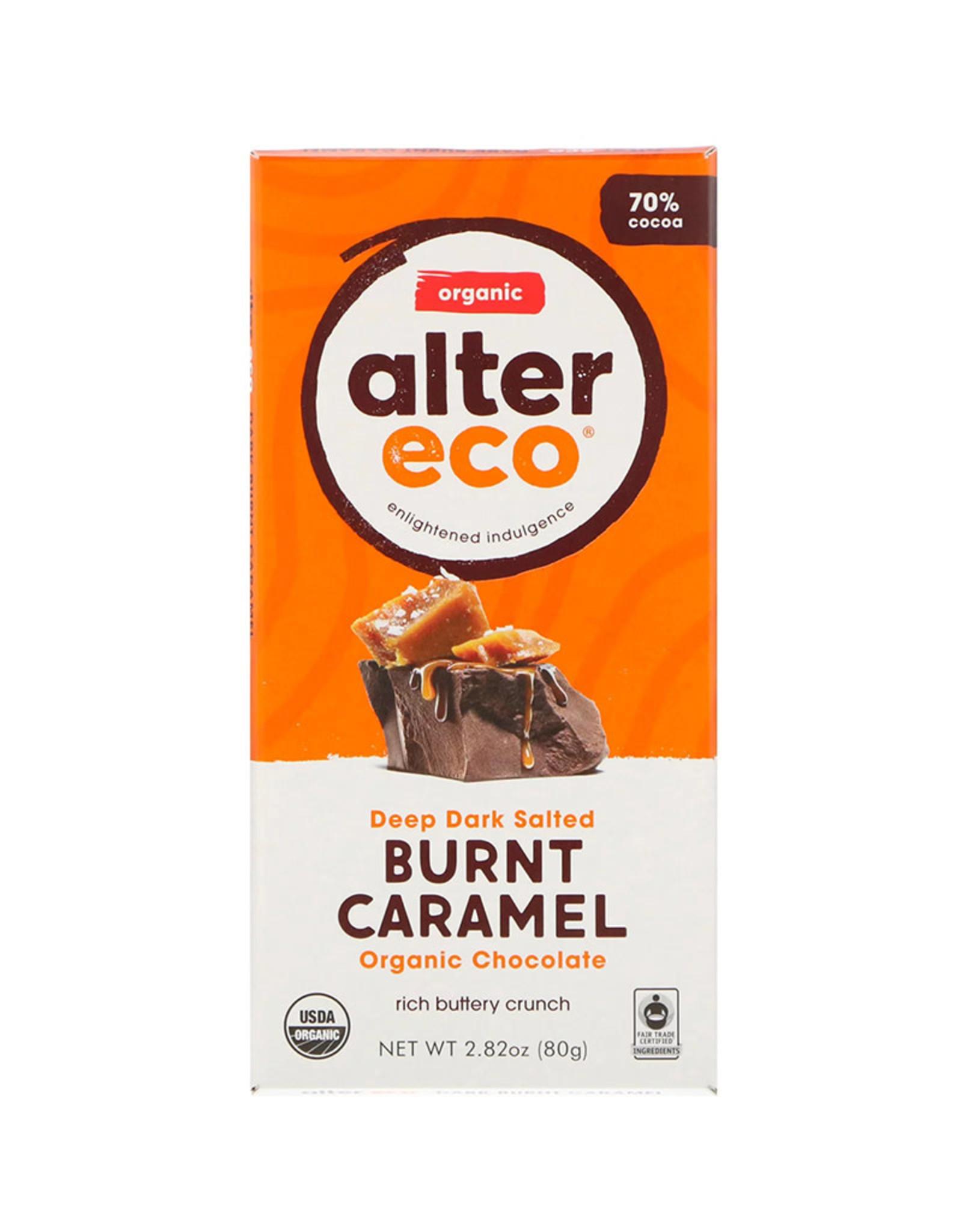 Alter Eco Alter Eco - Tablette de Chocolat Noir, Caramel Brûlé Foncé Bio (80g)