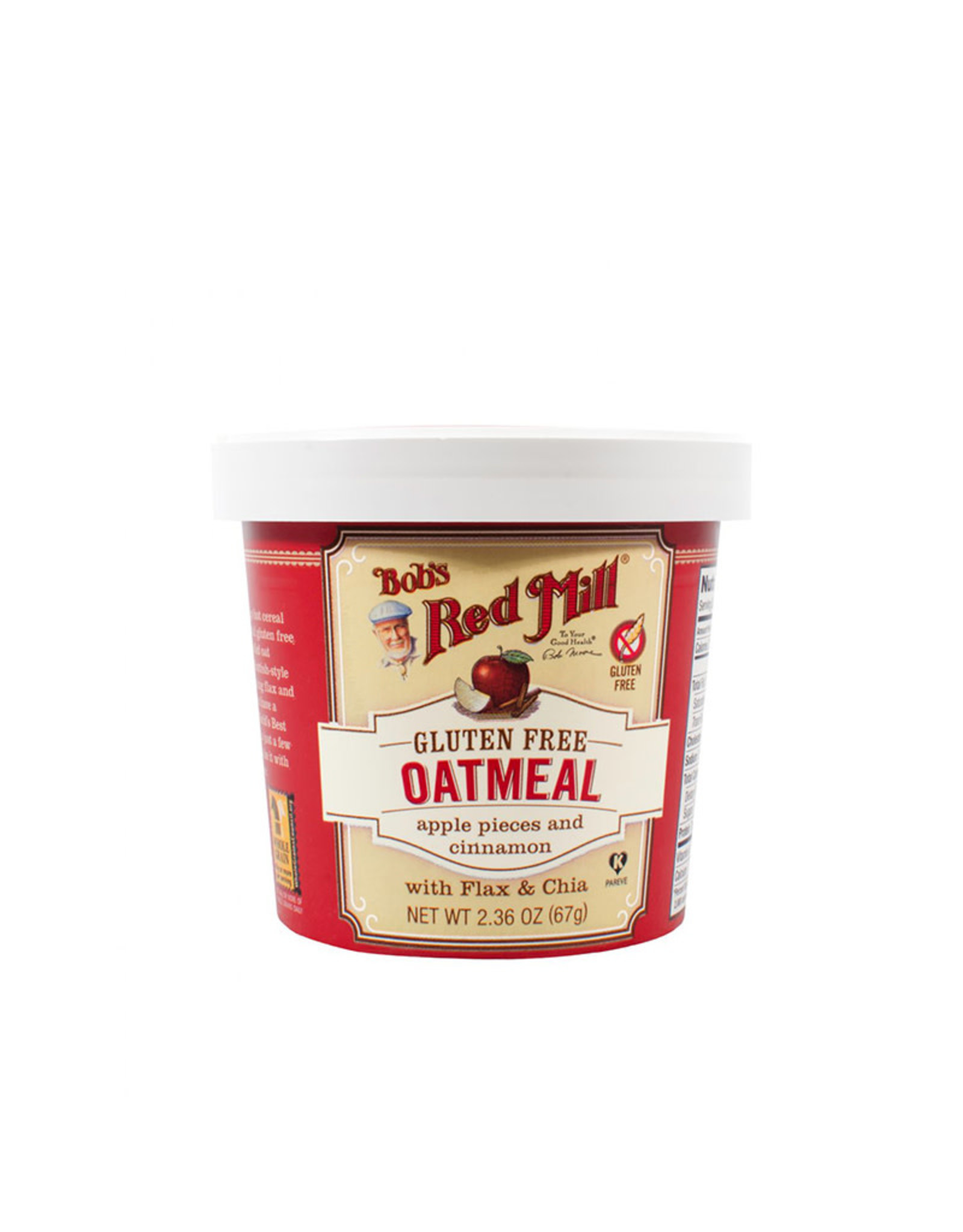 Bob's Red Mill Bob's Red Mill - Gruau Portion Individuelle, Pomme et Cannelle (67g)