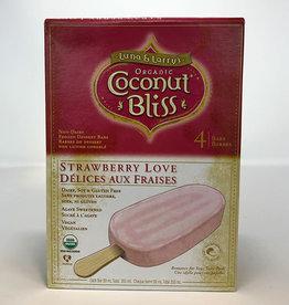 Coconut Bliss Coconut Bliss - Barre de Crème Glacée, Amour de Fraise (Boîte de 4) (89ml)