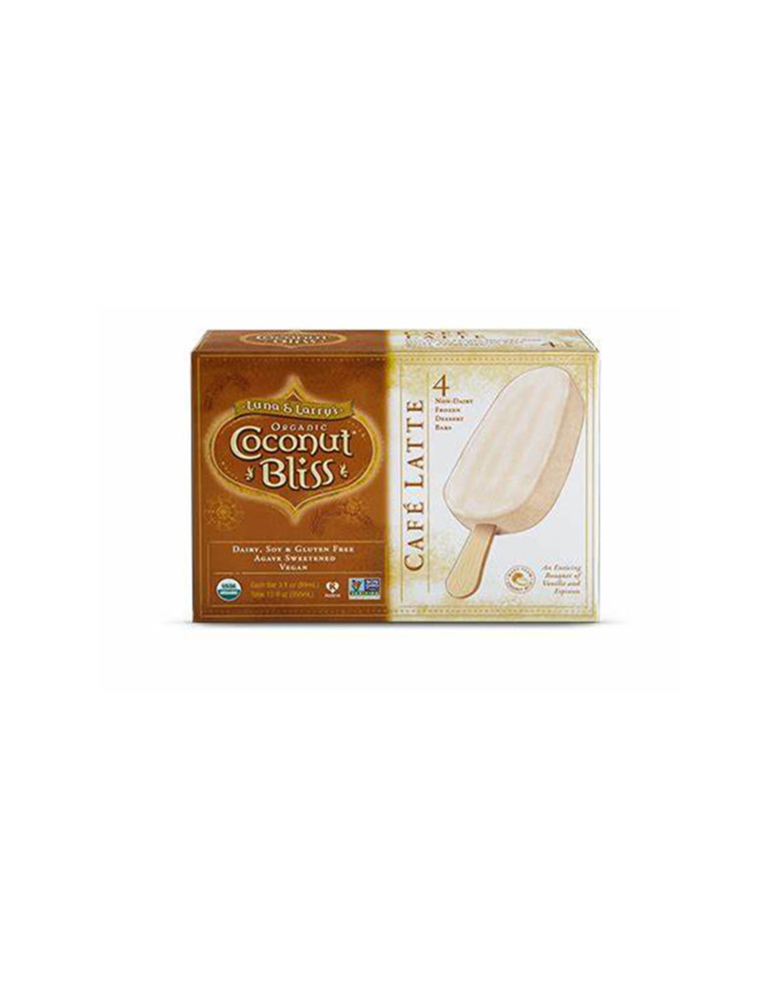 Coconut Bliss Coconut Bliss - Barre de Crème Glacée, Café Latte Bio (Boîte de 4) (89ml)