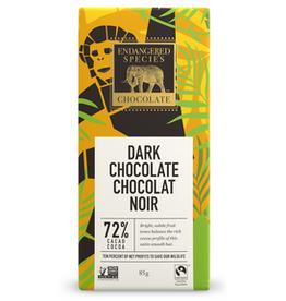 Endangered Species Endangered Species - Tablette de Chocolat Noir, Chimpanzé Lisse Foncé 72% (85g)