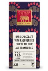 Endangered Species Endangered Species - Tablette de Chocolat Noir, Grizzly Framboises Rouges 72% (85g)