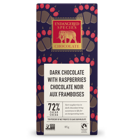 Endangered Species Endangered Species - Tablette de Chocolat Noir, Grizzly Framboises Rouges 72% (85g)