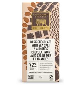 Endangered Species Endangered Species - Tablette de Chocolat Noir, Hibou Sel de Mer & Amandes 72% (85g)