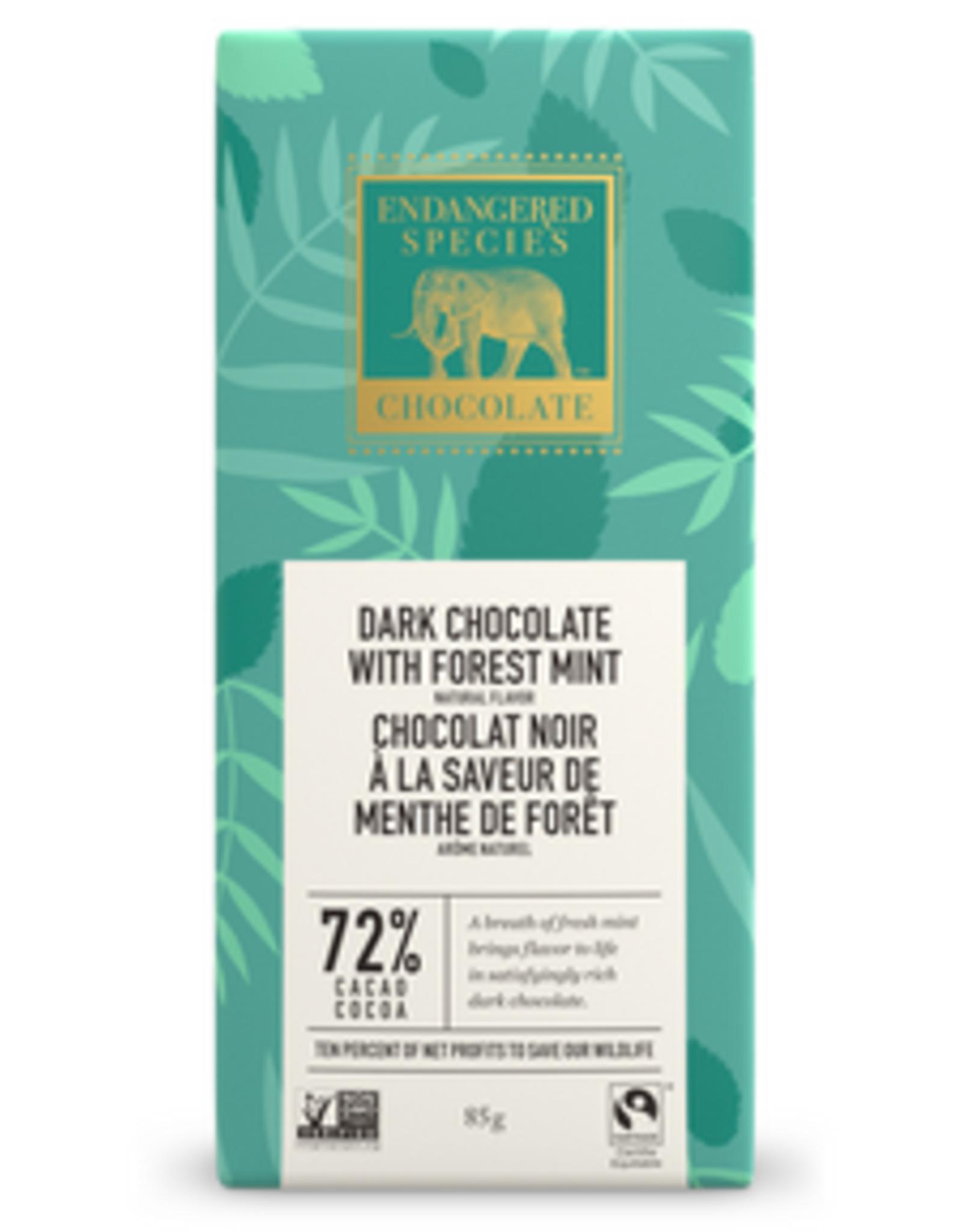Endangered Species Endangered Species - Tablette de Chocolat Noir, Menthe de Forêt (85g)