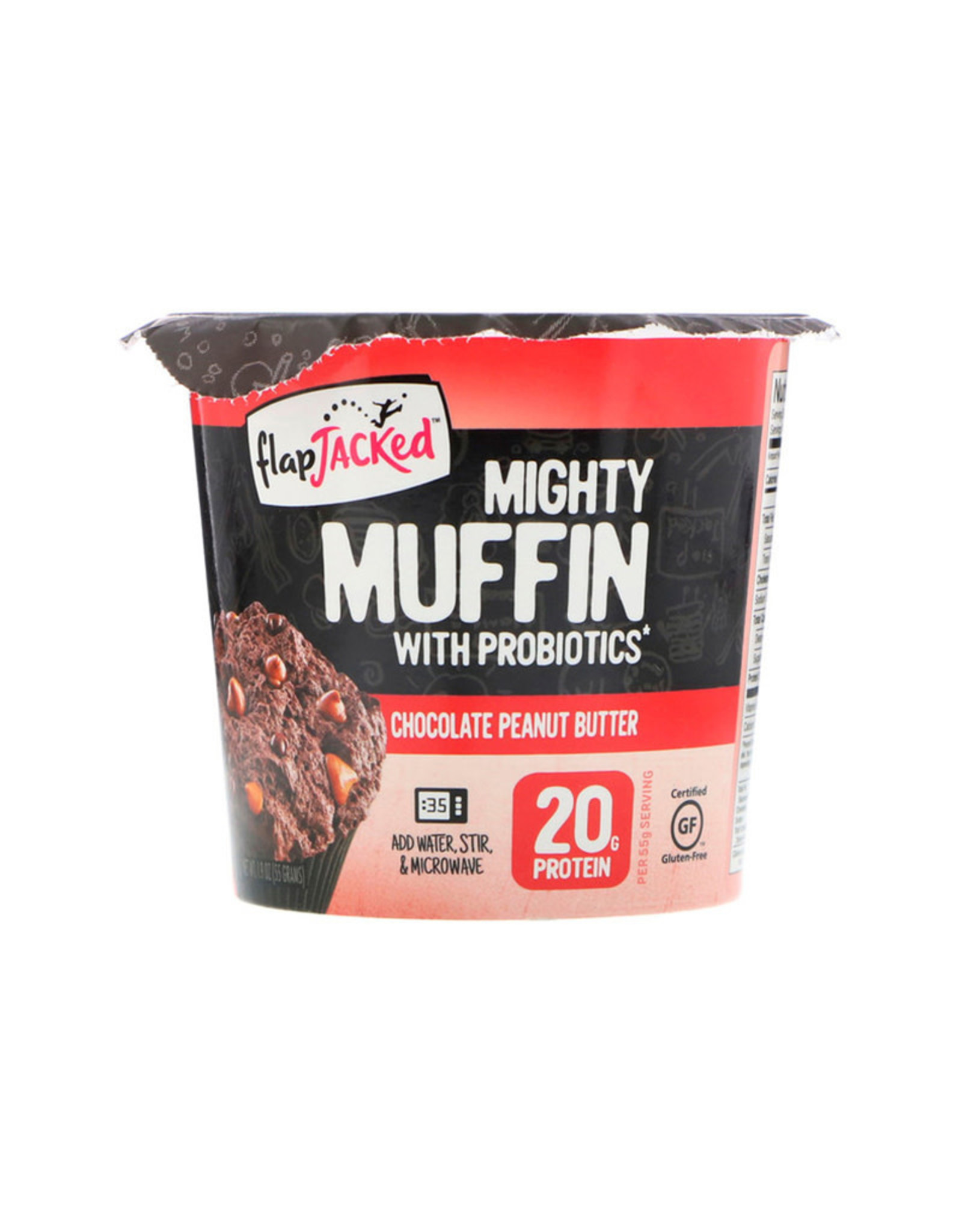 Flapjacked Flapjacked - Mighty Muffins, Beurre d'Arachides au Chocolat (1.94oz)