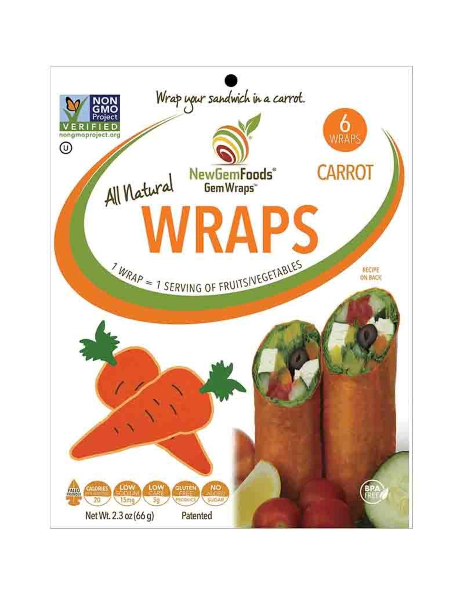 Gemwraps Gemwraps - Wrap de Légumes, Carottes (5un)