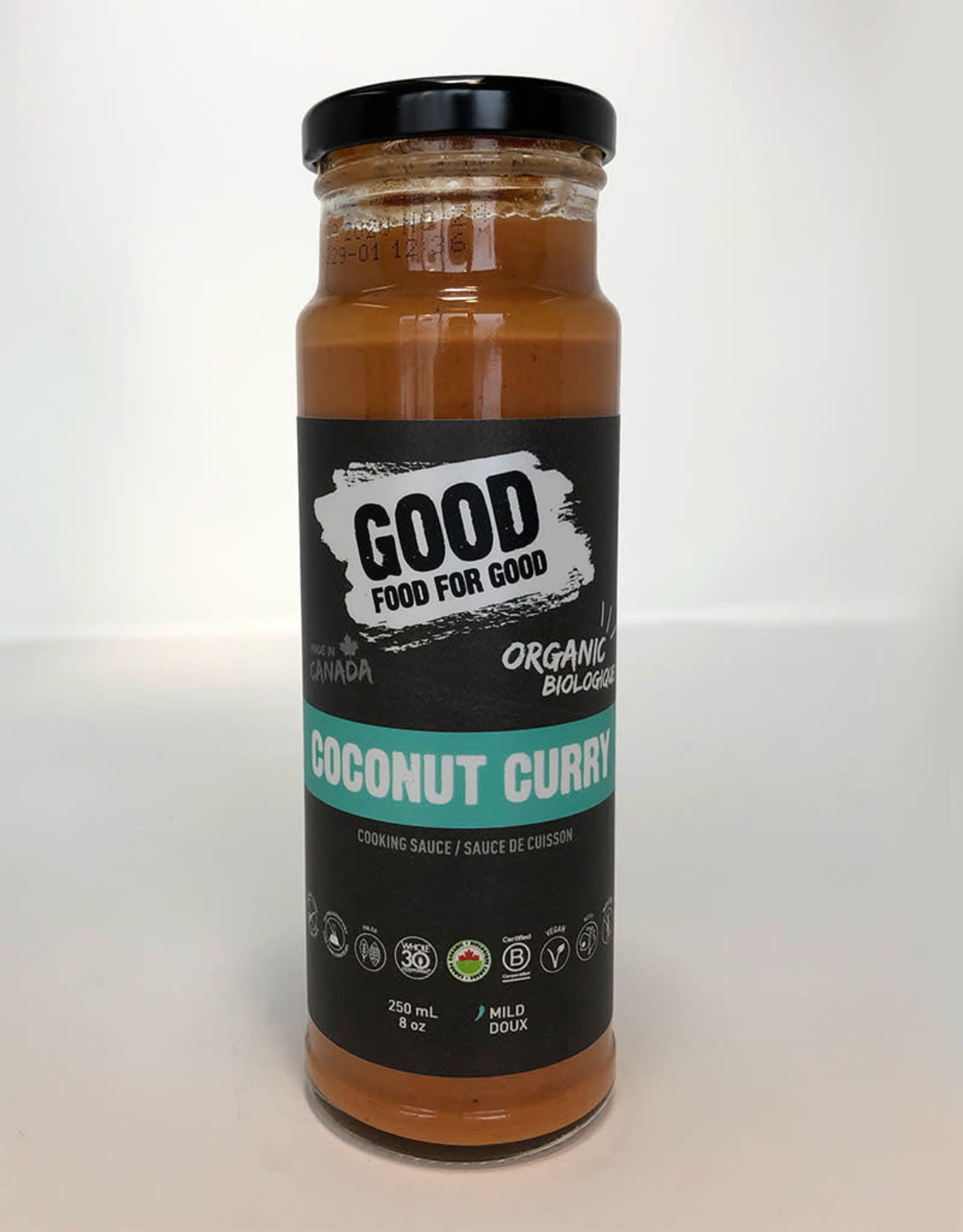 Good Food For Good Good Food For Good - Sauce, Coconut Curry Bio (250ml)