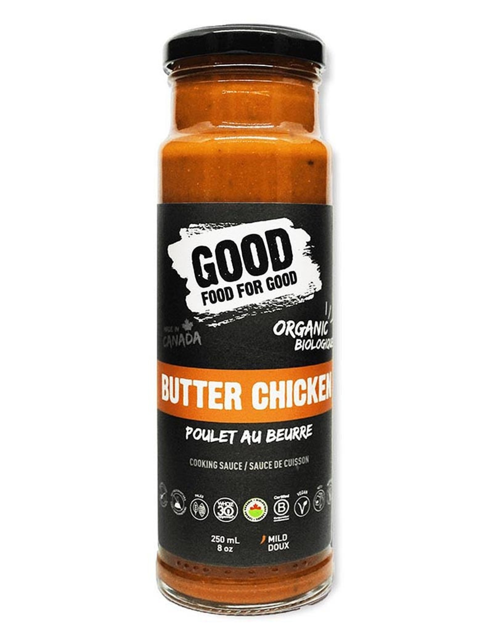 Good Food For Good Good Food For Good - Sauce, Poulet au Beurre Bio (250ml)