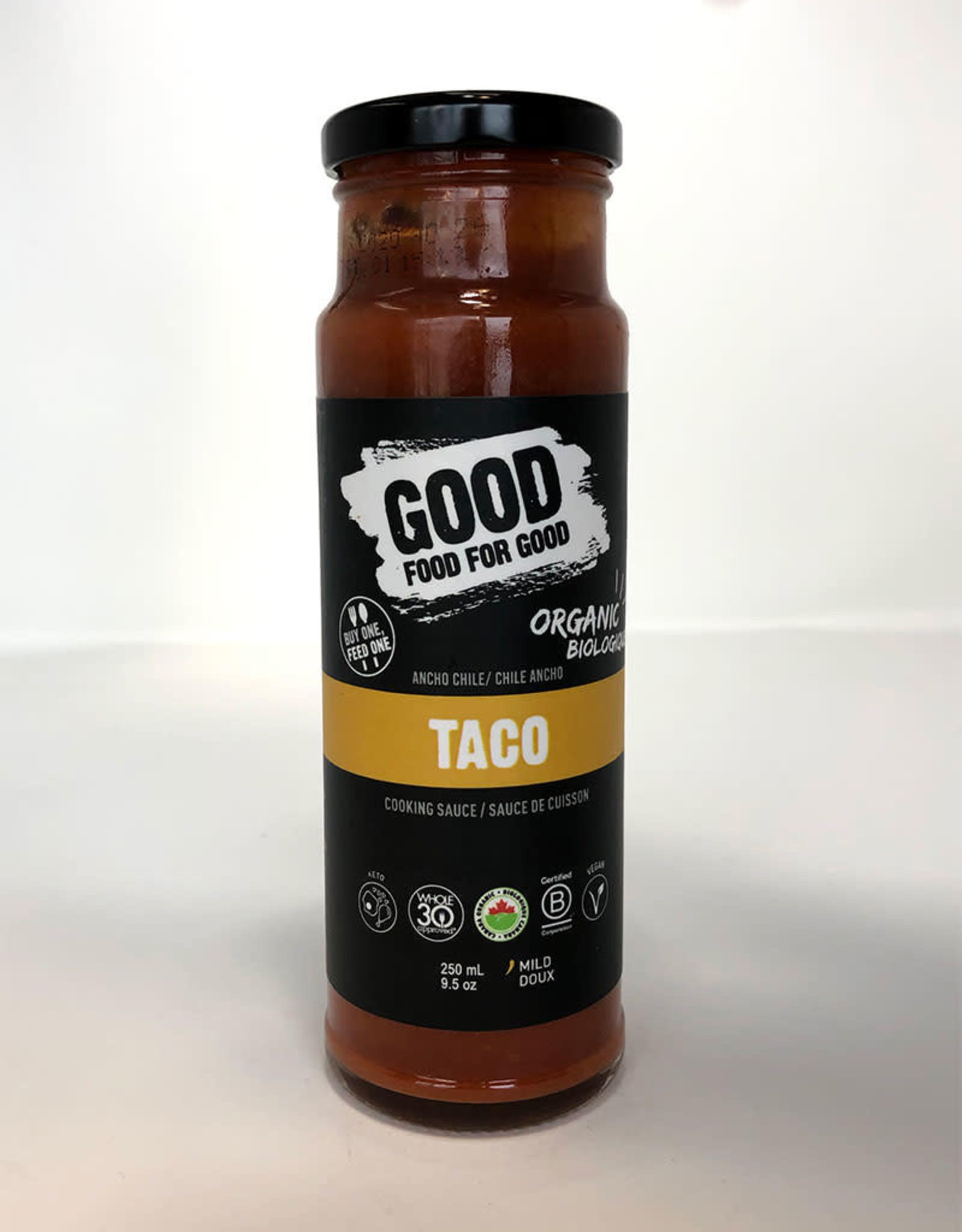 Good Food For Good Good Food For Good - Sauce, Taco Bio (250ml)