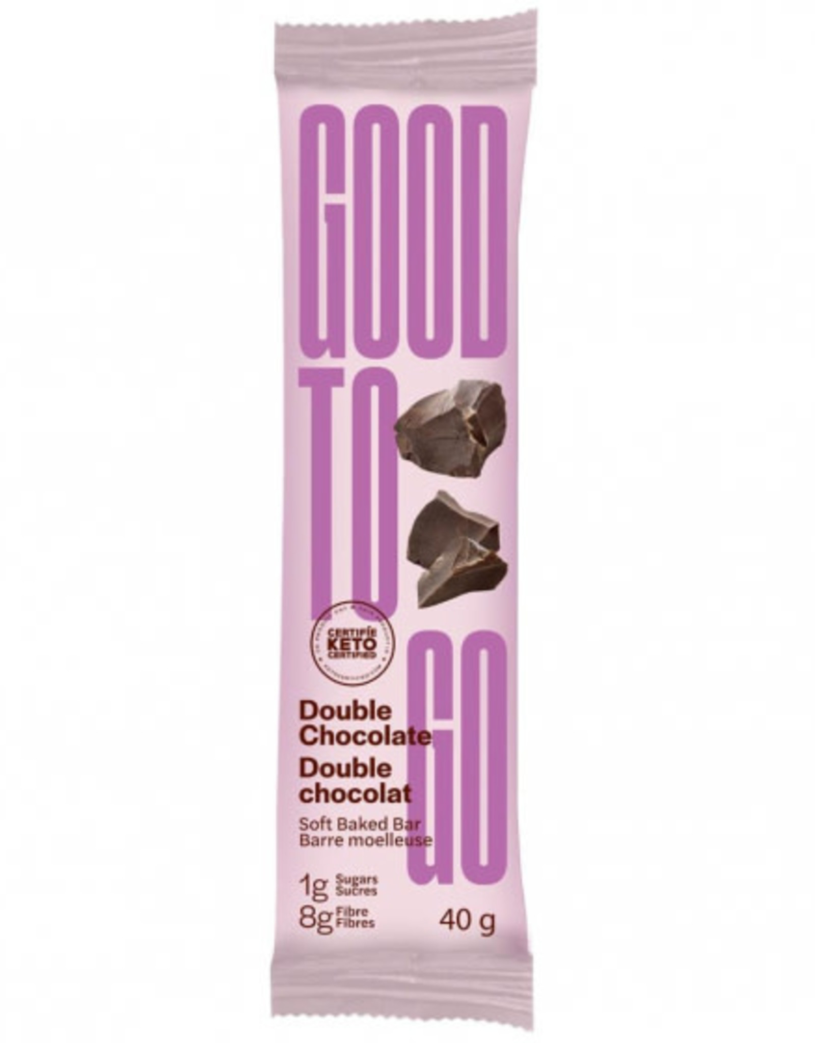 Good To Go Good To Go - Barre Collation Keto, Double Chocolat (40g)