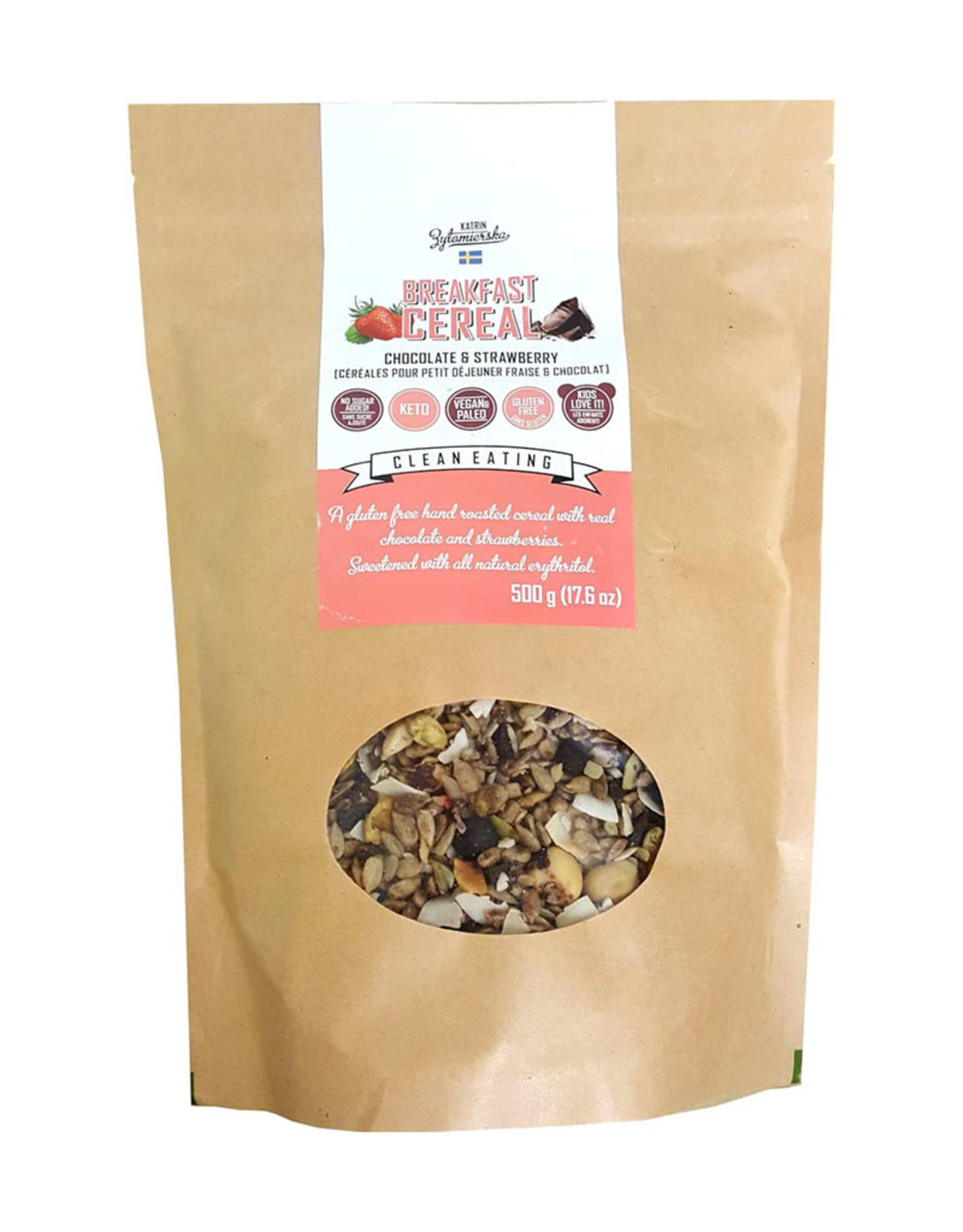 KZ Clean Eating KZ Clean Eating - Granola, Chocolat & Fraise (500g)