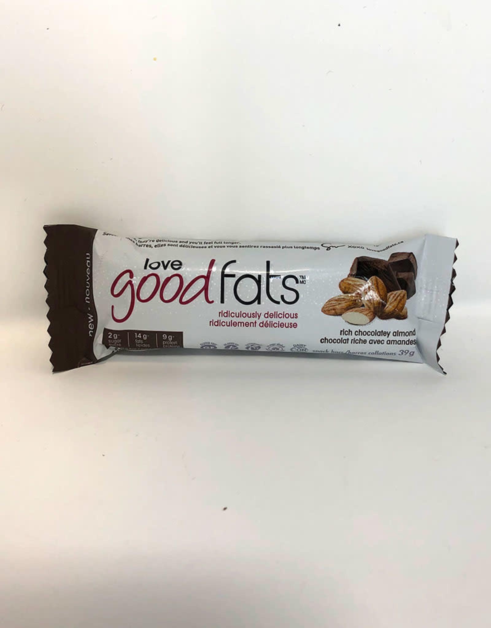 Love Good Fats Love Good Fats - Barre Collation, Amande Chocolatée Riche (39g)