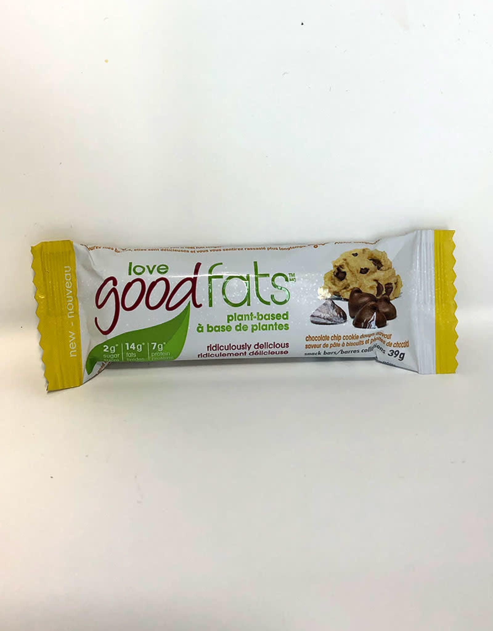 Love Good Fats Love Good Fats - Barre Collation, Pâte à Biscuits aux Pépites de Chocolat (39g)