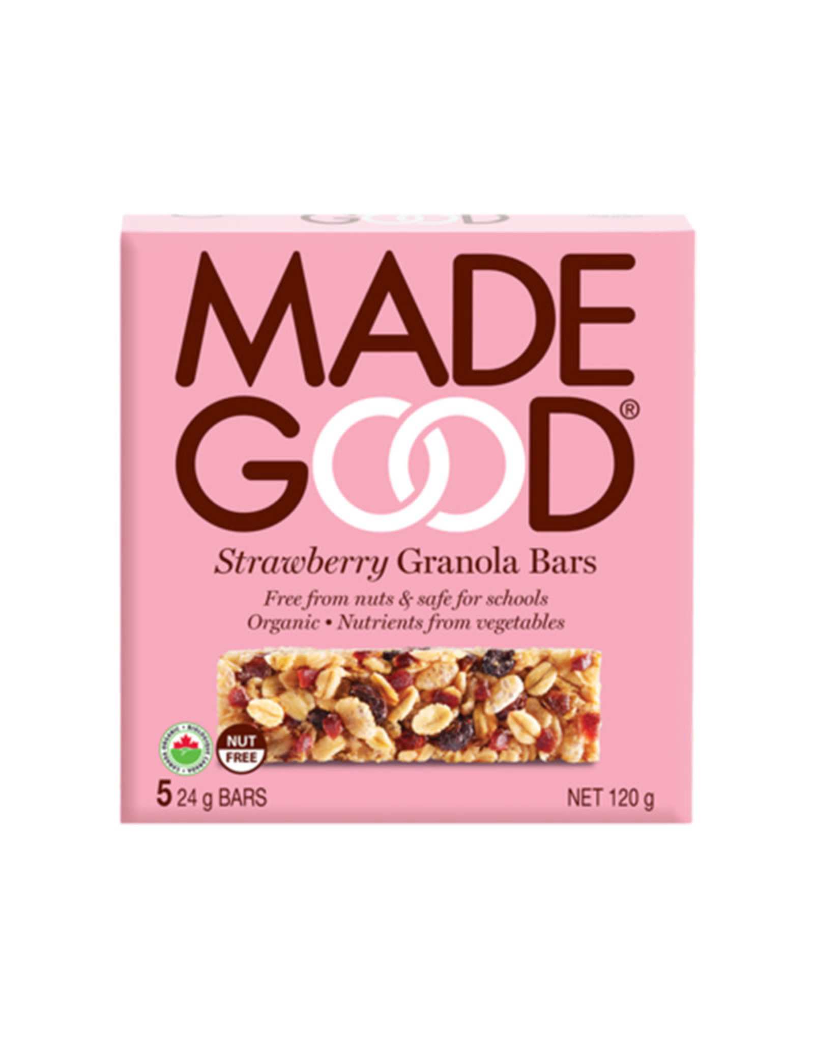 Made Good Made Good - Barre Granola, Fraise (5x24g)