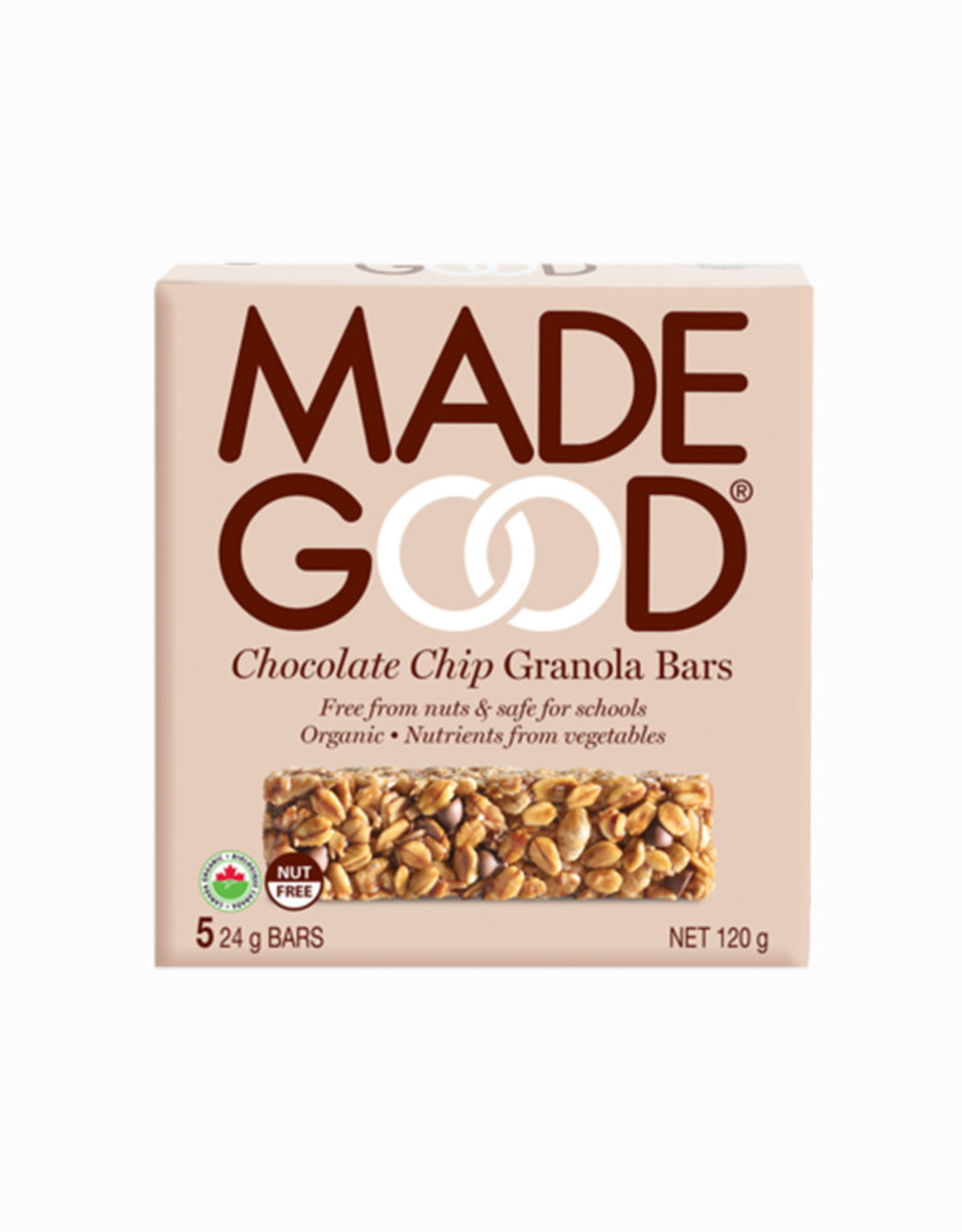 Made Good Made Good - Barre Granola, Pépites de Chocolat (5x24g)