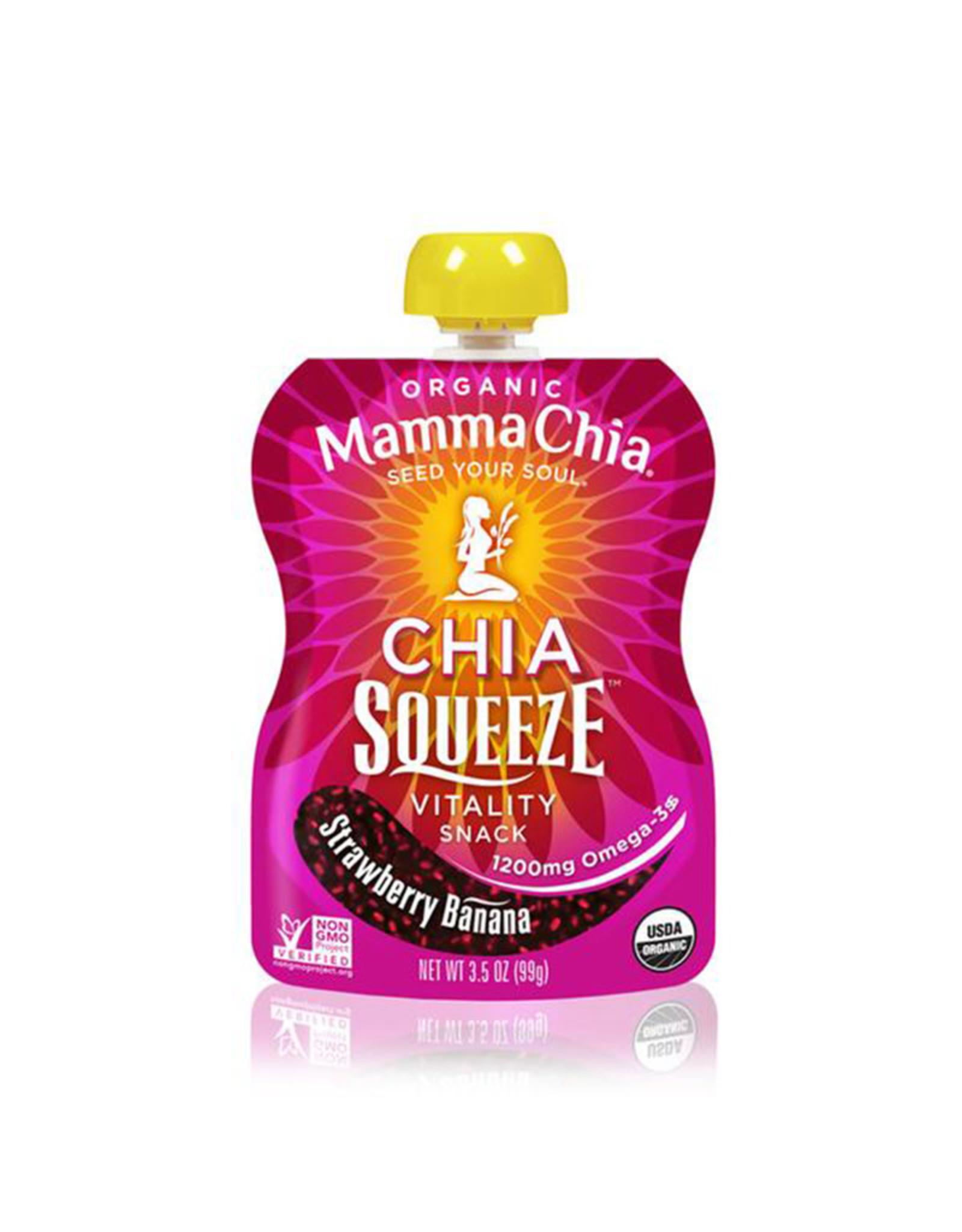 Mamma Chia Mamma Chia - Chia Squeeze, Banane aux Fraises (99g)