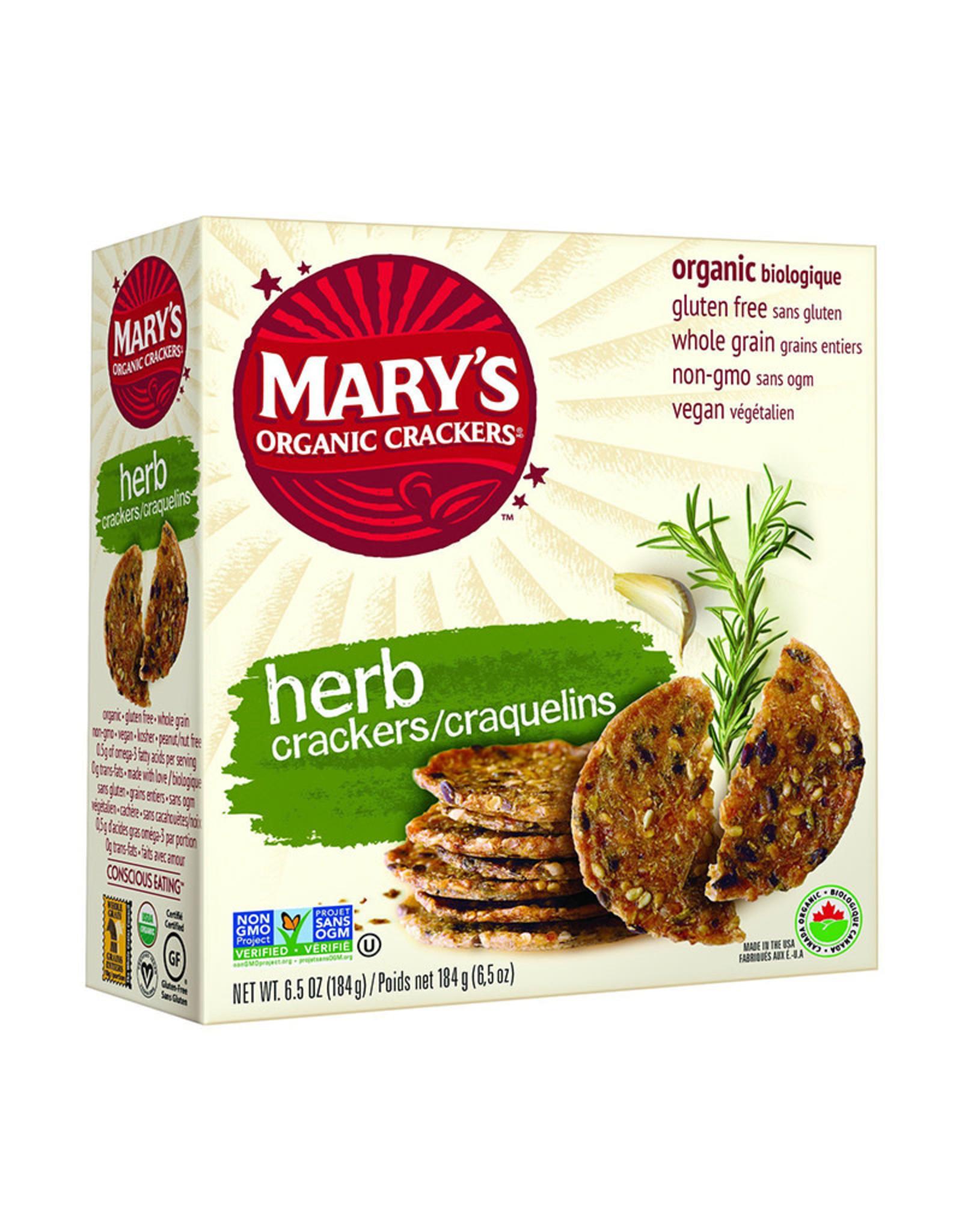 Mary's Organic Mary's Organic - Craquelins, Herbes Bio (184g)