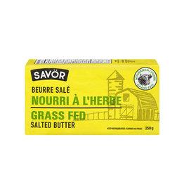 Savor Savor - Beurre Nourri à L'Herbe, Salé (250g)