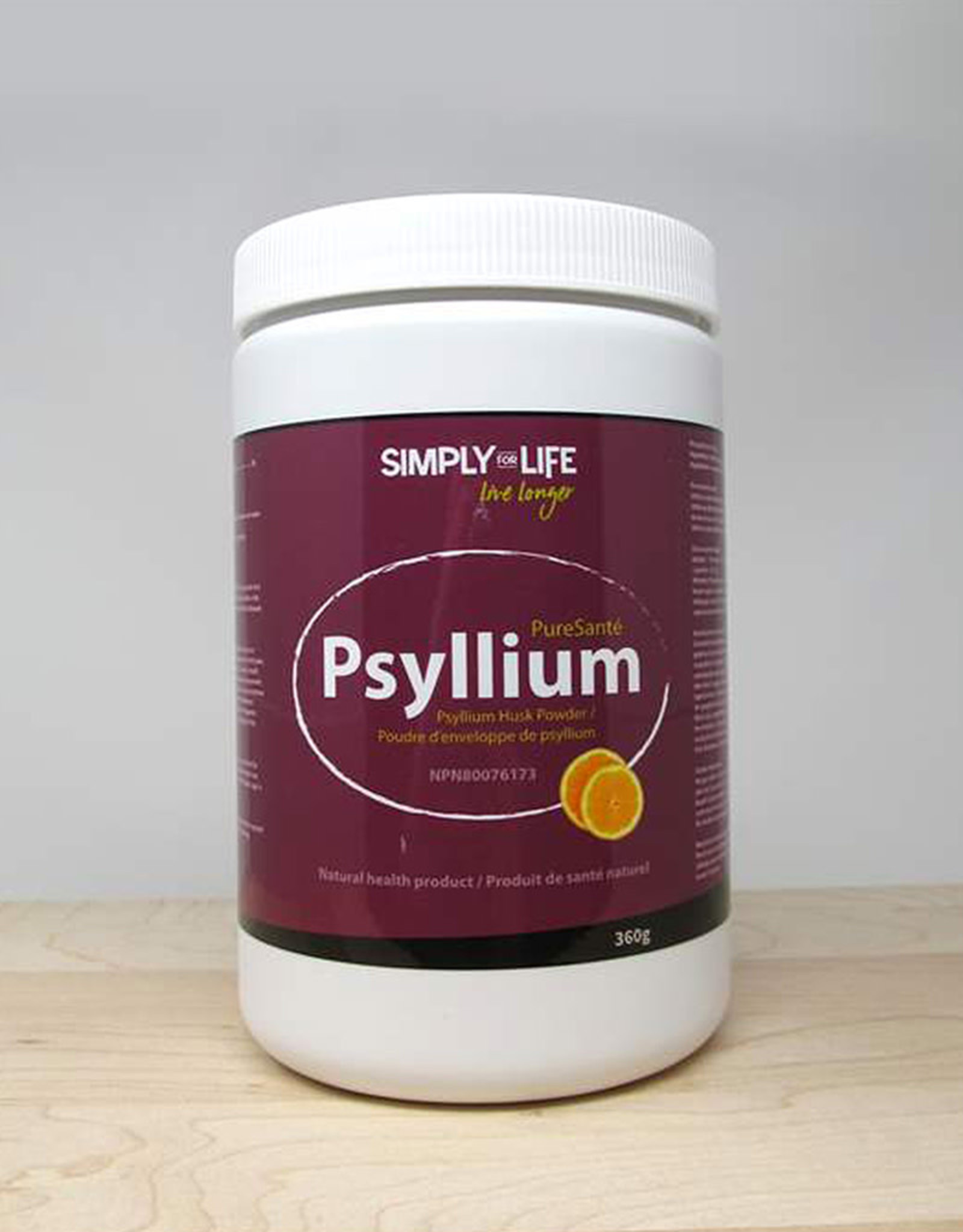 Simply For Life Simply For Life - Poudre de Psyllium, Orange (360g)