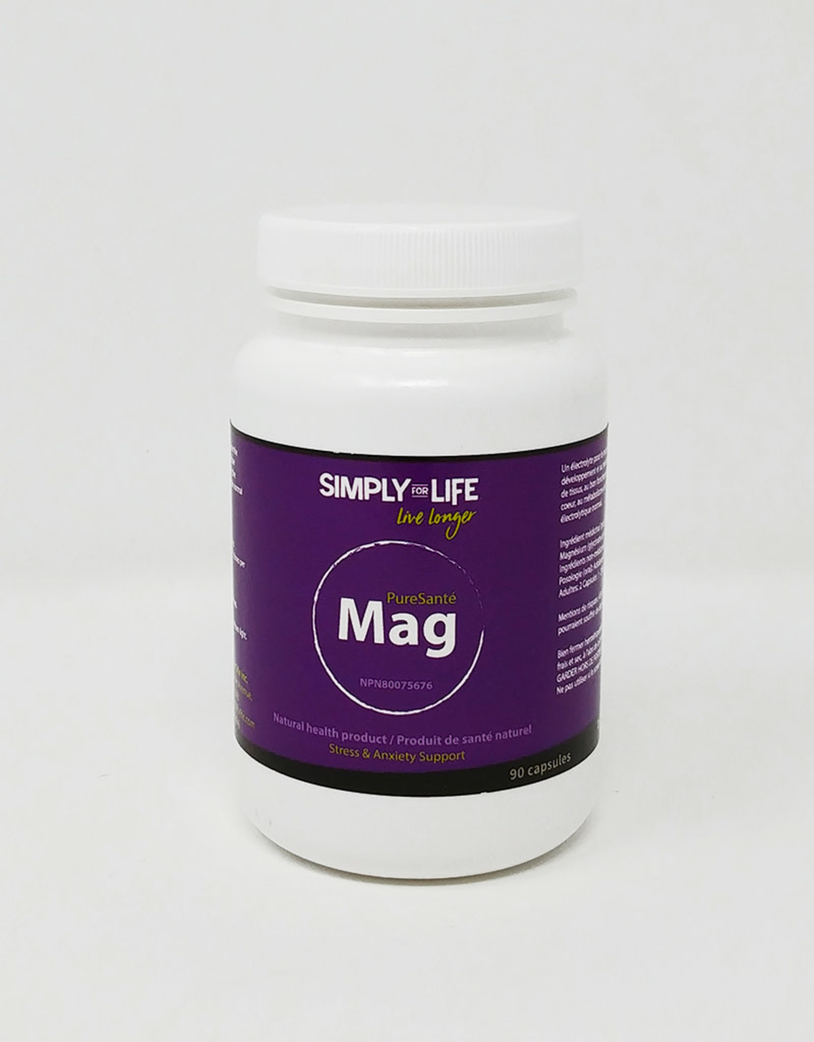 Simply For Life Simply For Life - Suppléments, Magnésium (90cap)