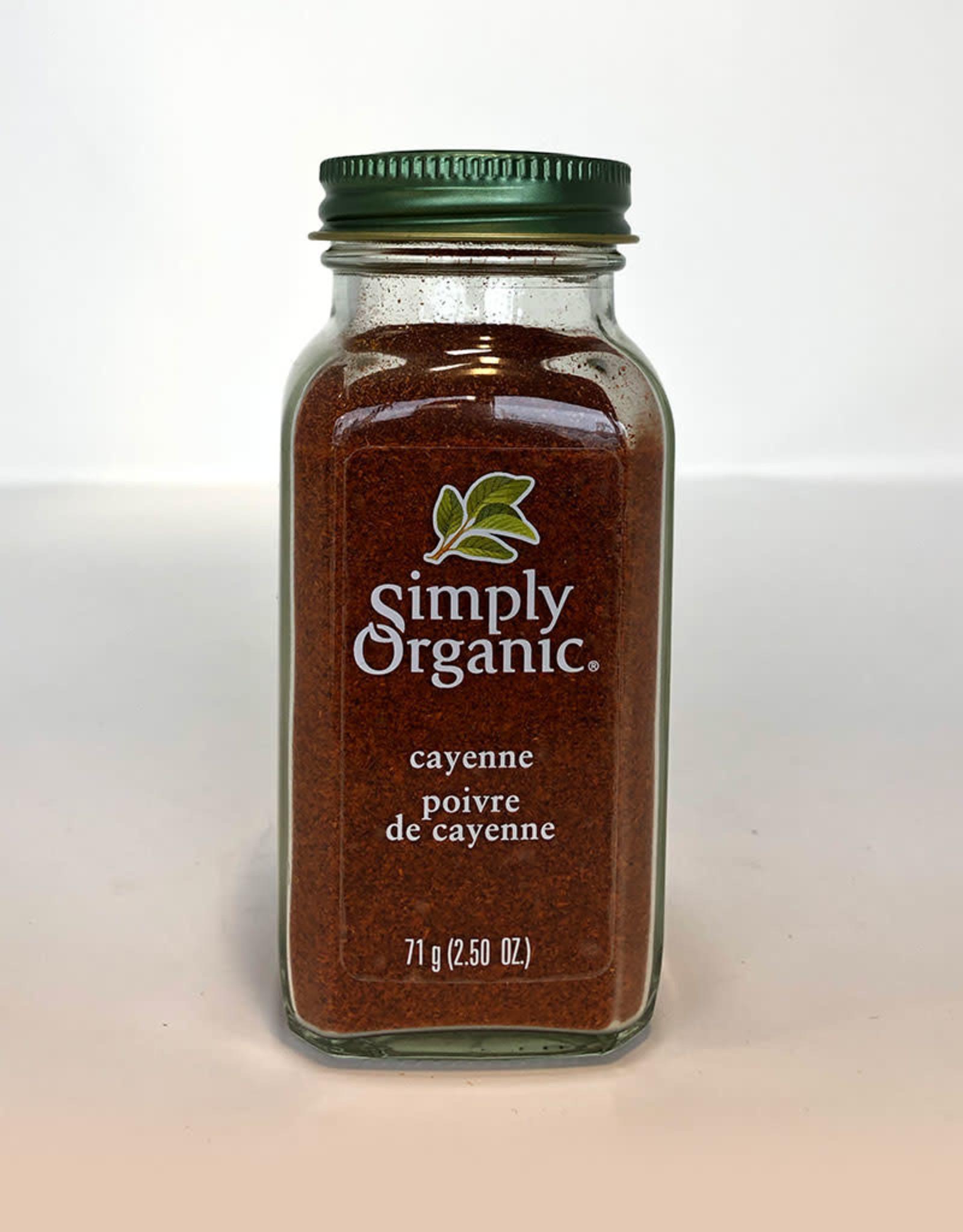 Simply Organic Simply Organic - Épices En Bouteille Bio, Poivre de Cayenne (71g)