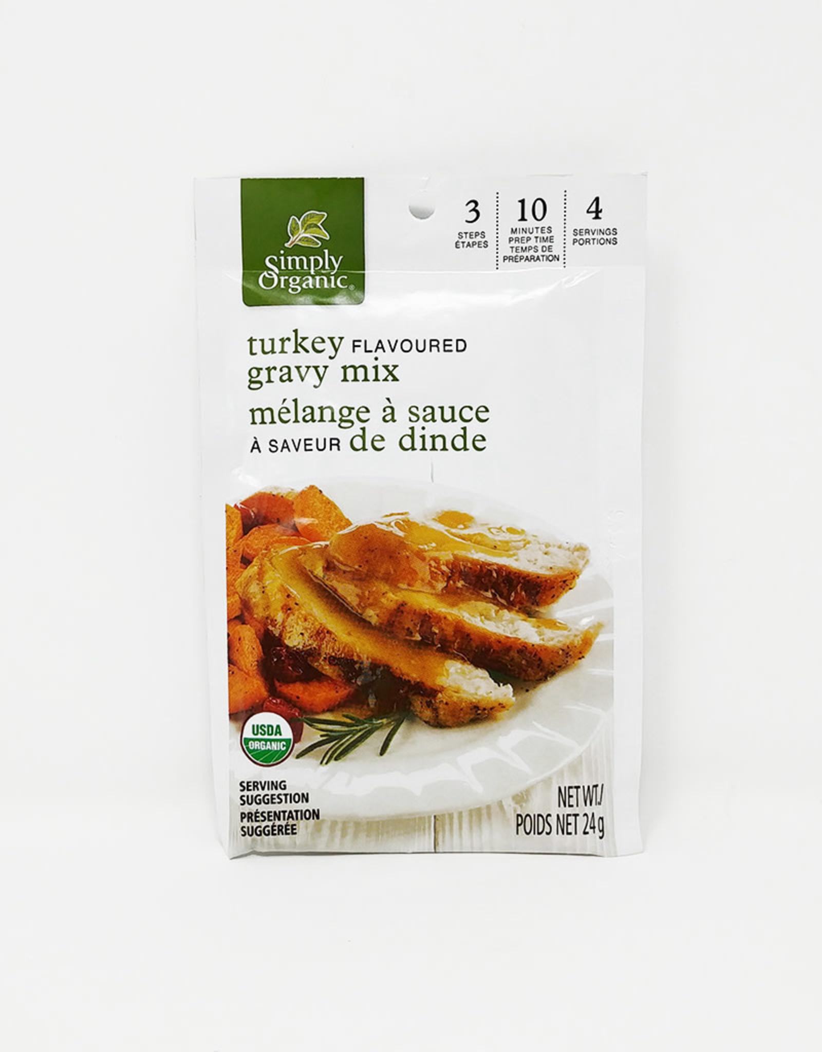 Simply Organic Simply Organic - Mélange à Sauce, Sauce Dinde Grillée Bio (24.09g)