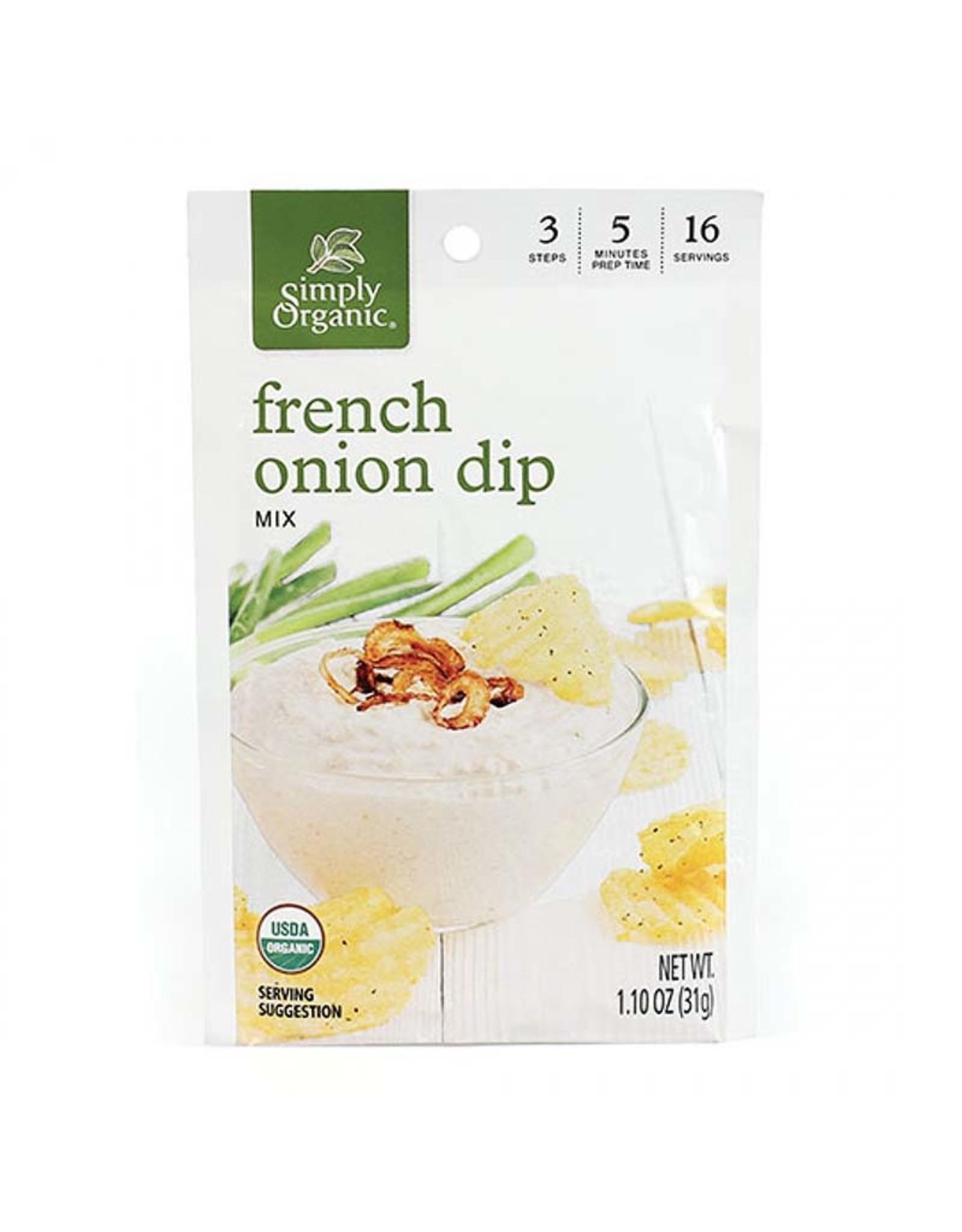 Simply Organic Simply Organic - Mélange d'Assaisonnement, Trempette à L'Oignon Française (31.18g)