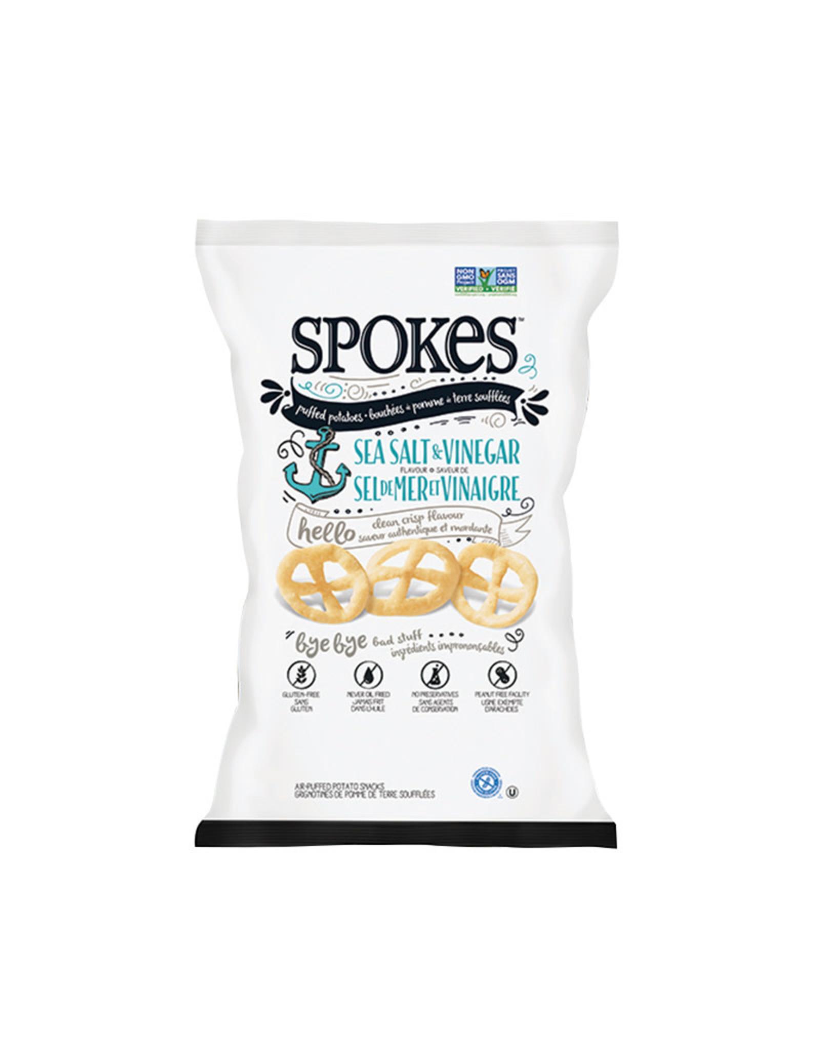 Spokes Spokes - Croustilles Soufflées, Sel de Mer et Vinaigre (80g)