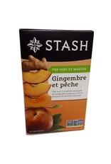 Stash Tea Stash Tea - Thé Vert et Matcha, Gingembre et Pêche (18scts)
