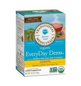 Traditional Medicinals Traditional Medicinals - Tisane, Citron Détox Quotidien (20un)