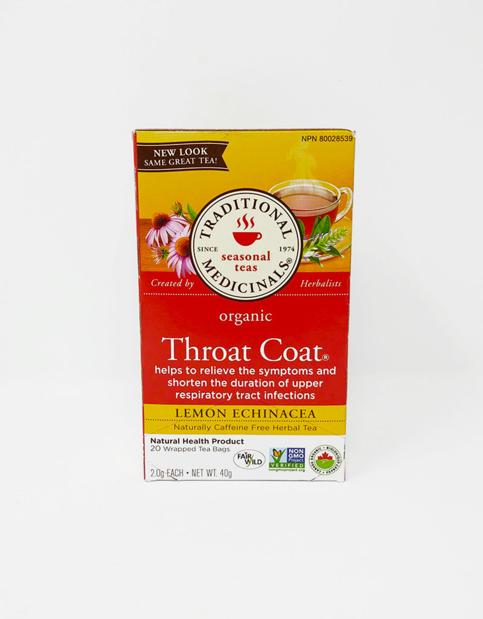 Traditional Medicinals Traditional Medicinals - Tisane, Gorge Bio (Av Formule Thoux) (20un)
