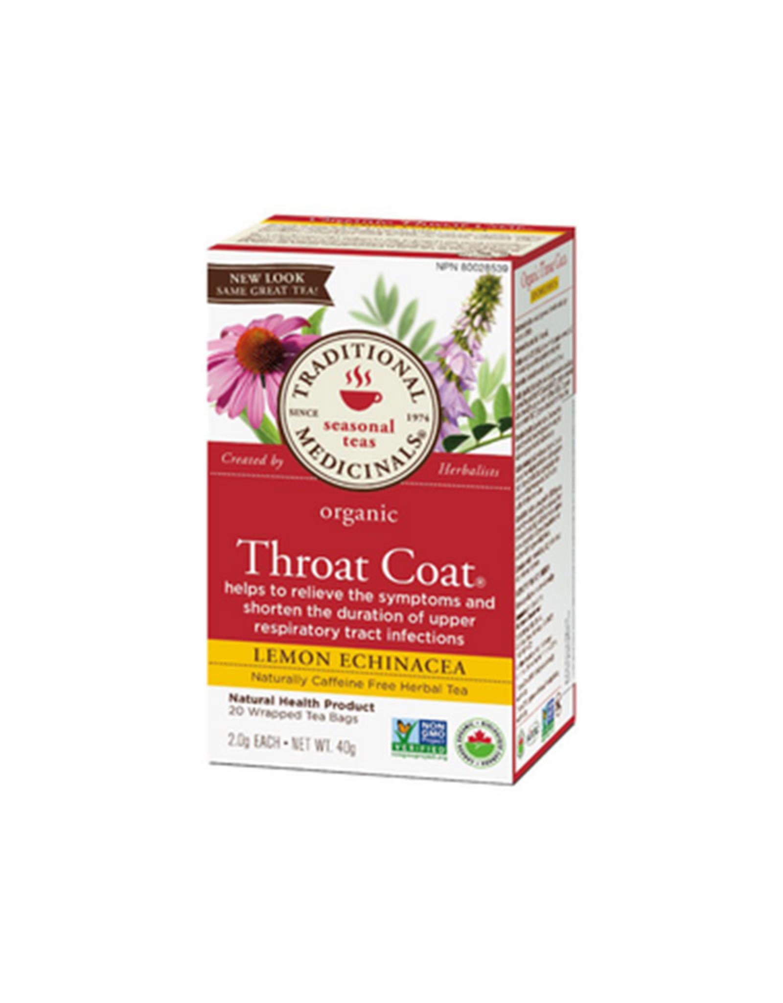 Traditional Medicinals Traditional Medicinals - Tisane, Maux de Gorge Echinace Citron (20un)
