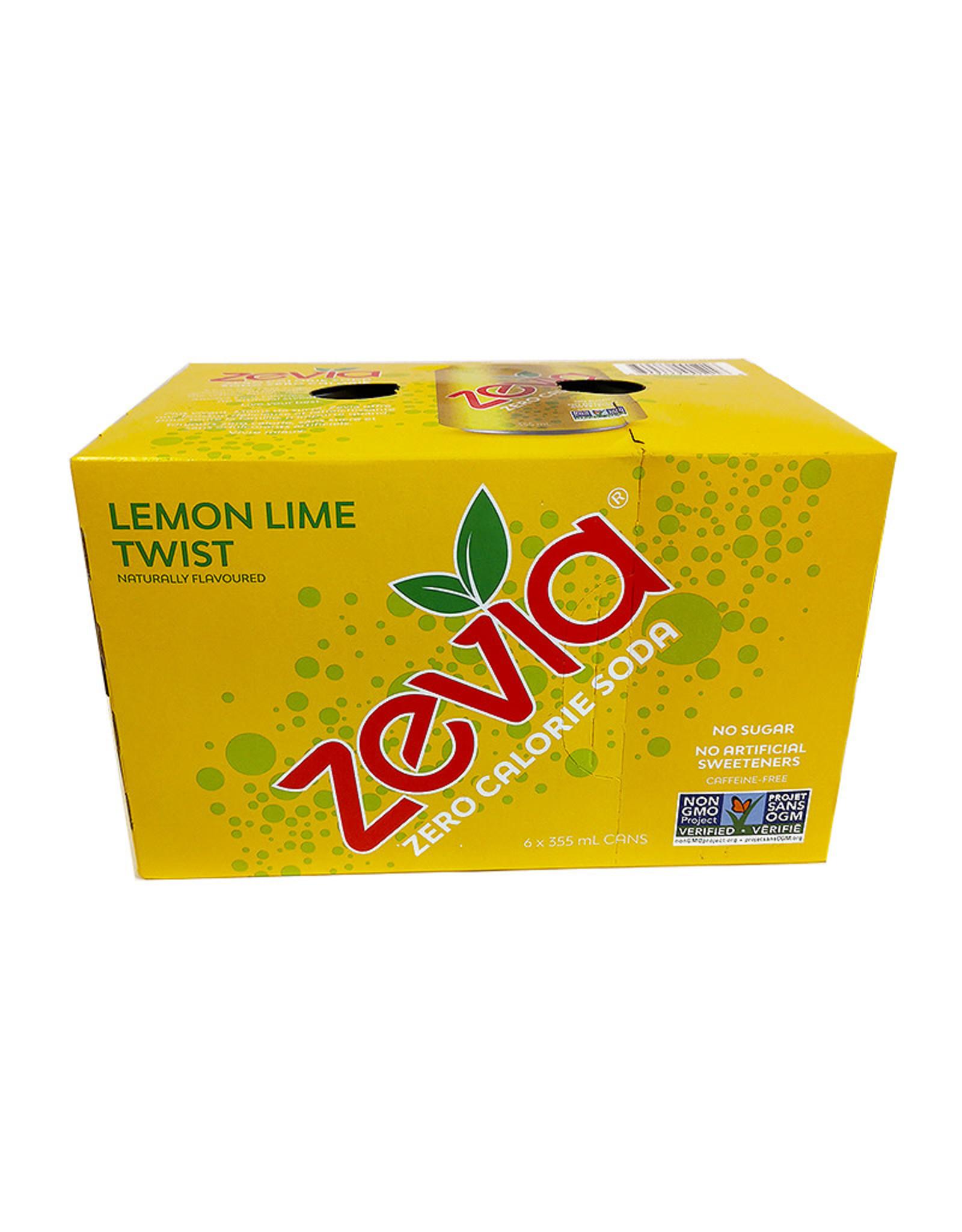 Zevia Zevia - Boisson Gazeuse, Torsade Citron Lime (Paquet 6) (6x355ml)