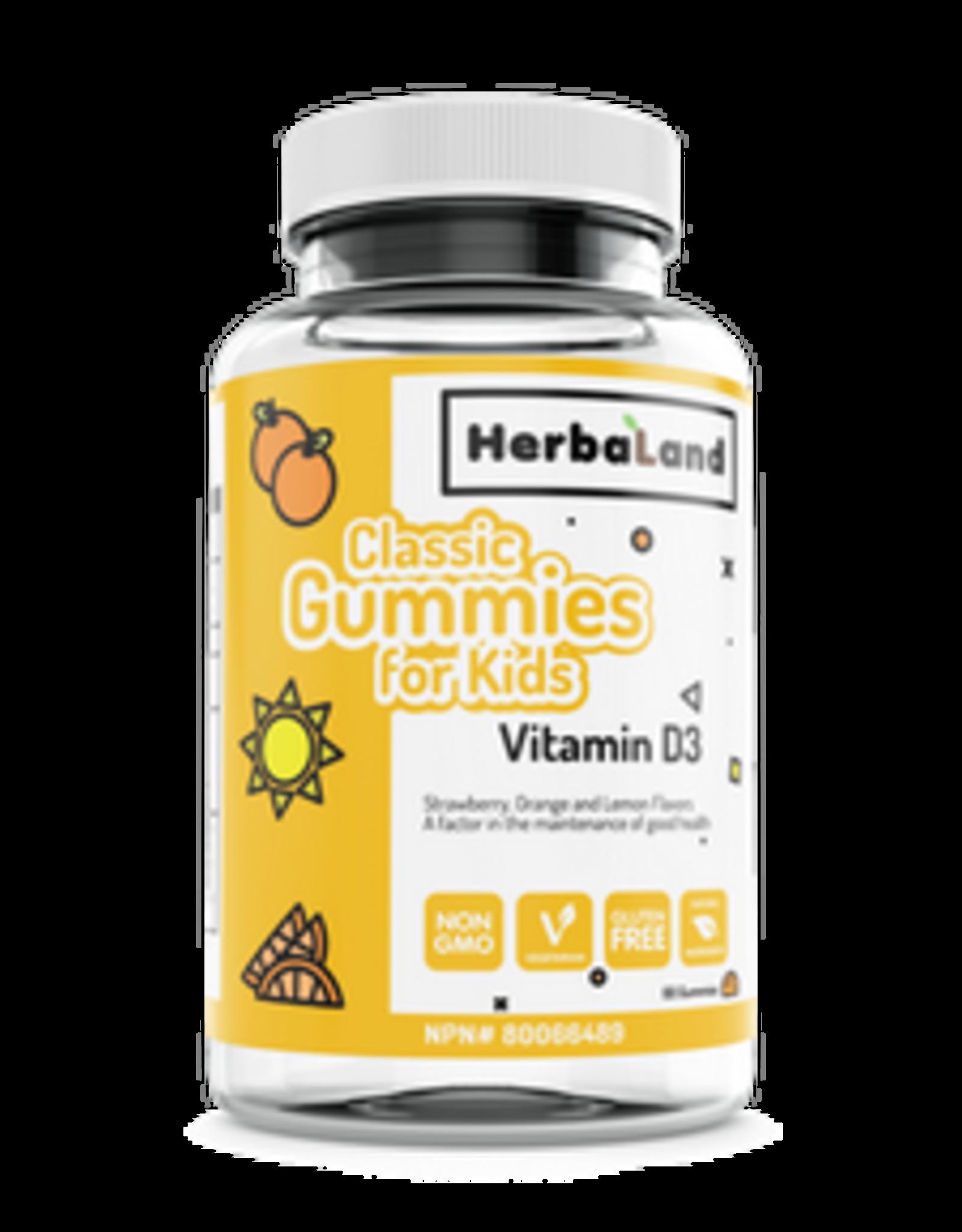 Herbaland Herbaland - Vitamine D3, Enfants (60caps)