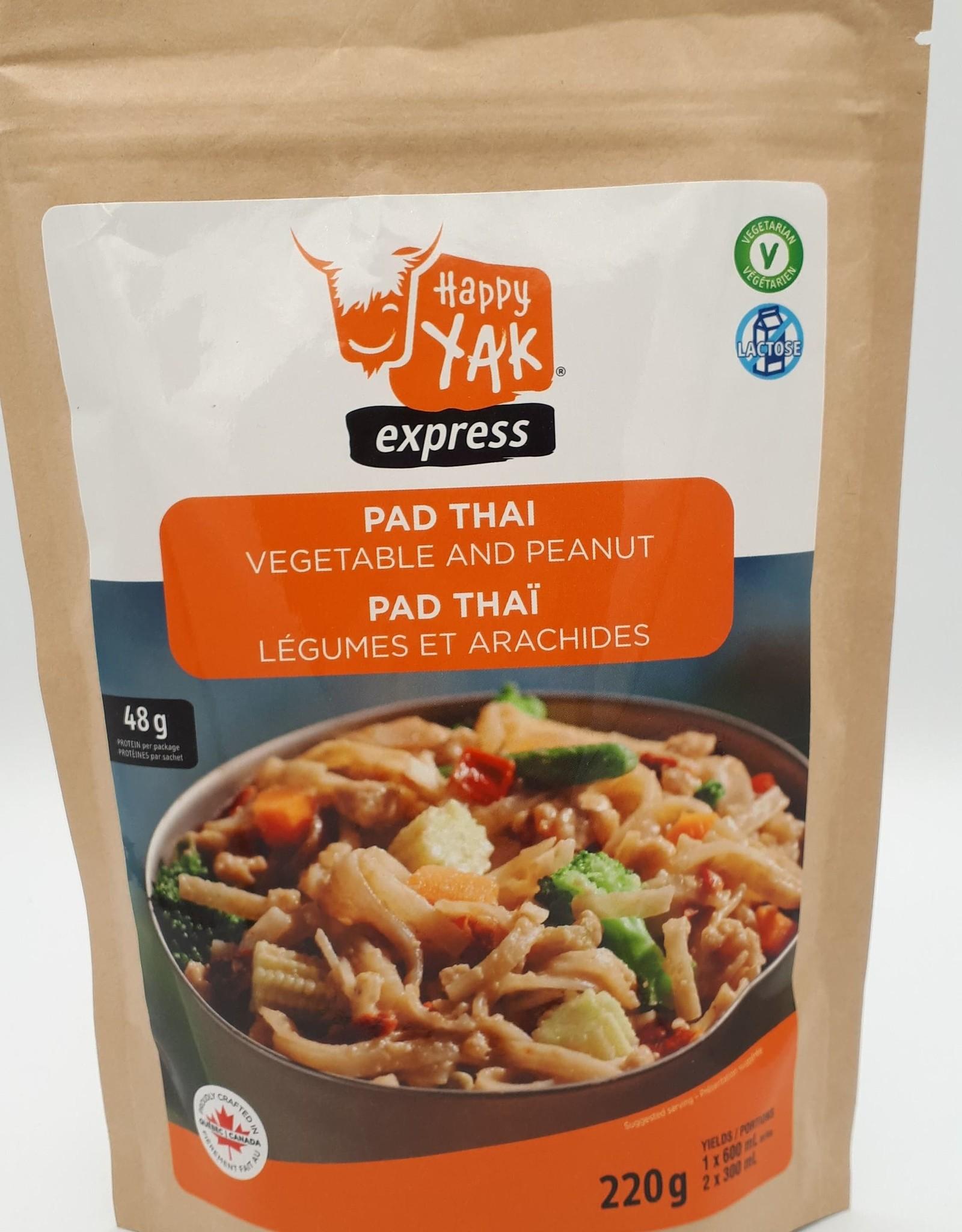 Happy Yak Happy Yak - Repas, Pad thaï végétarien aux arachides et légumes (végétalien, -1% de gluten, sans lactose)