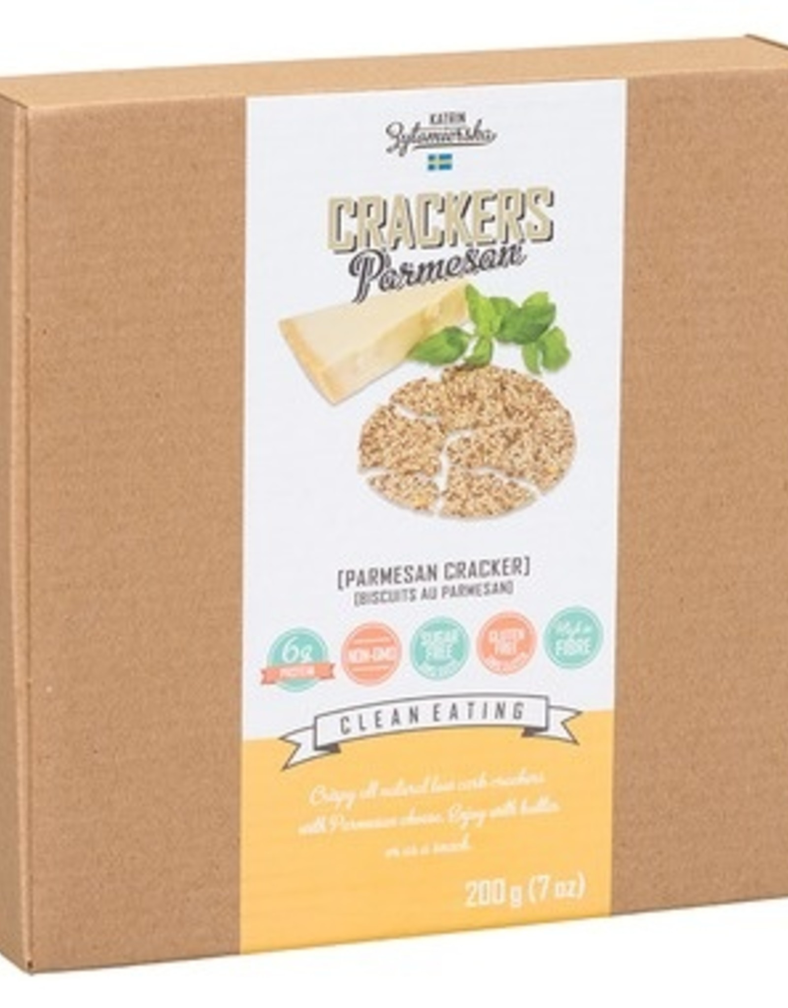 KZ Clean Eating Kz Clean Eating - Craquelins, Parmesan (200g)