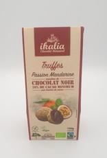 Saveur et Nature Ikalia La Belle Équitable - Truffles au Chocolat Noir, Passion Mandarine (100g)