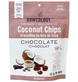 Rawcology Rawcology - Croustilles de Noix de Coco, Chocolat (70g)