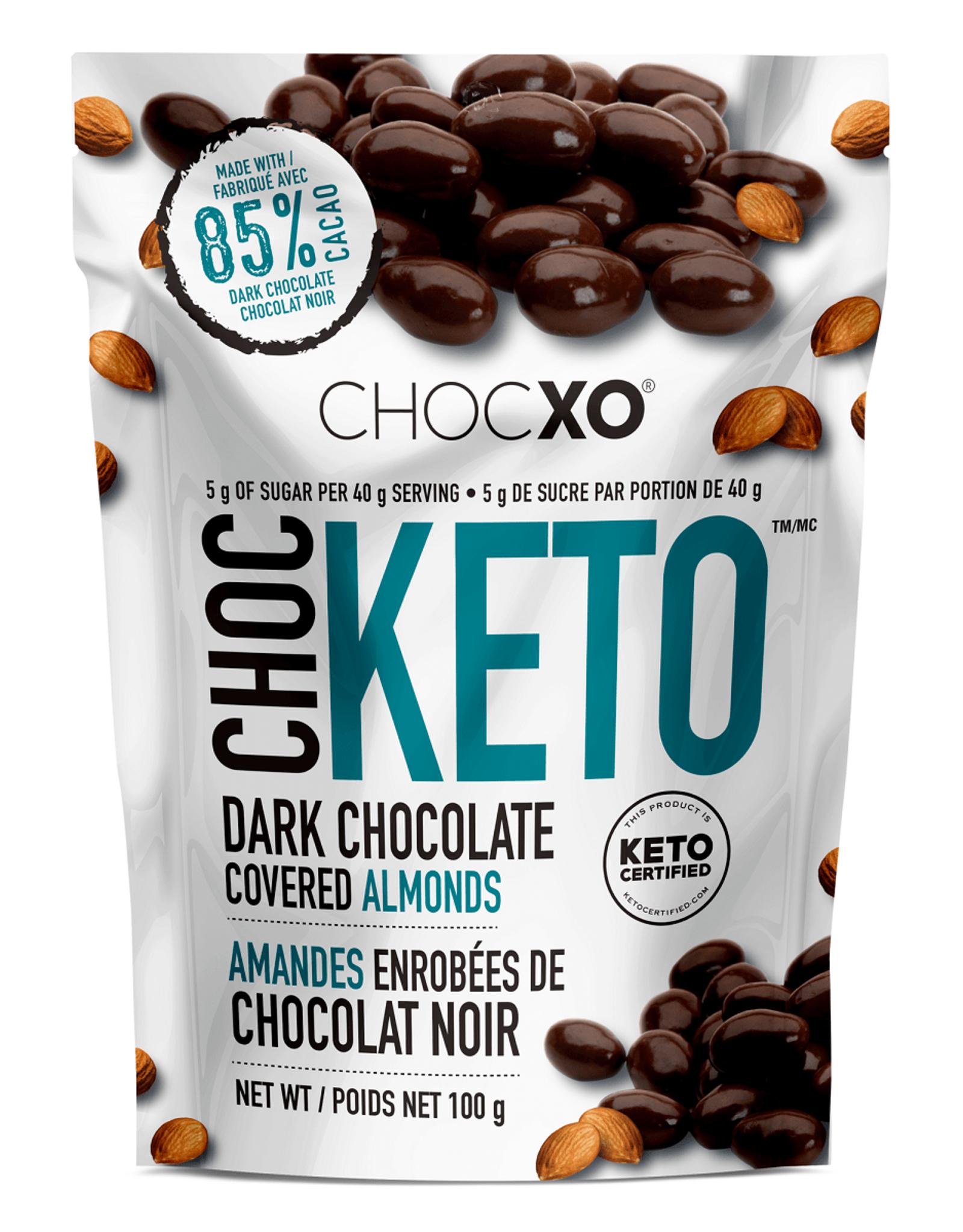 ChocXO Chocxo - Amandes Enrobées de Chocolat Noir 85% (100g)