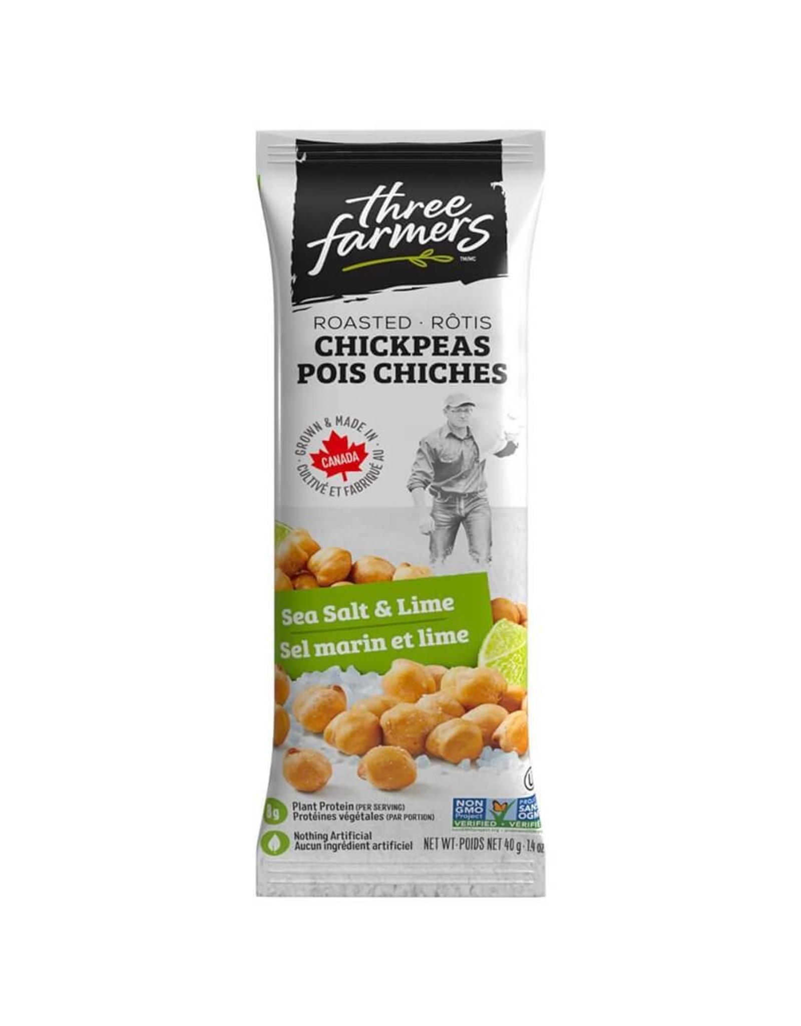 Three Farmers Three Farmers - Pois Chiches Rôtis, Sel et Lime (40g)
