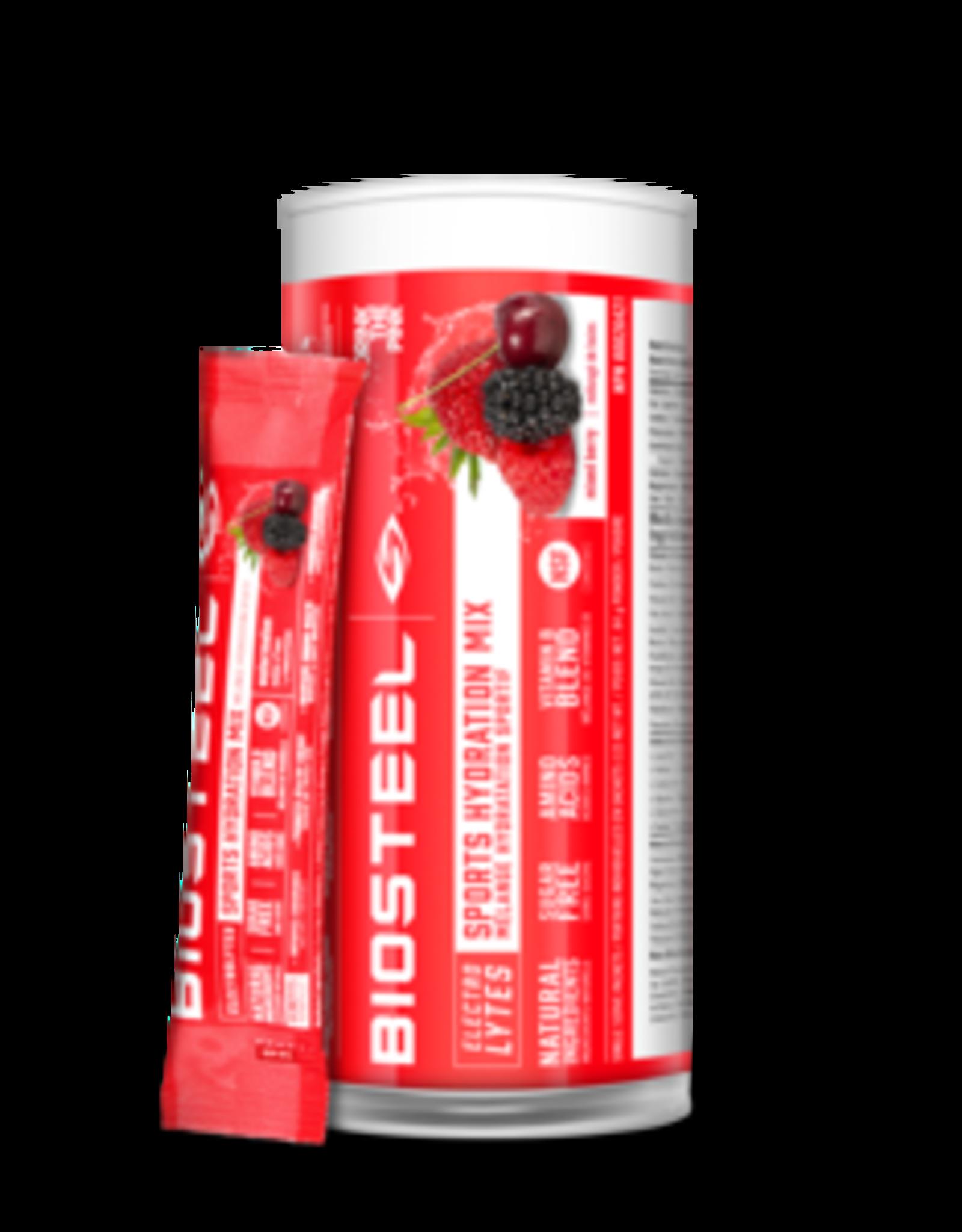 BioSteel Biosteel - Boisson Sportive - Électrolytes, Baies Mélangées (12x7g)