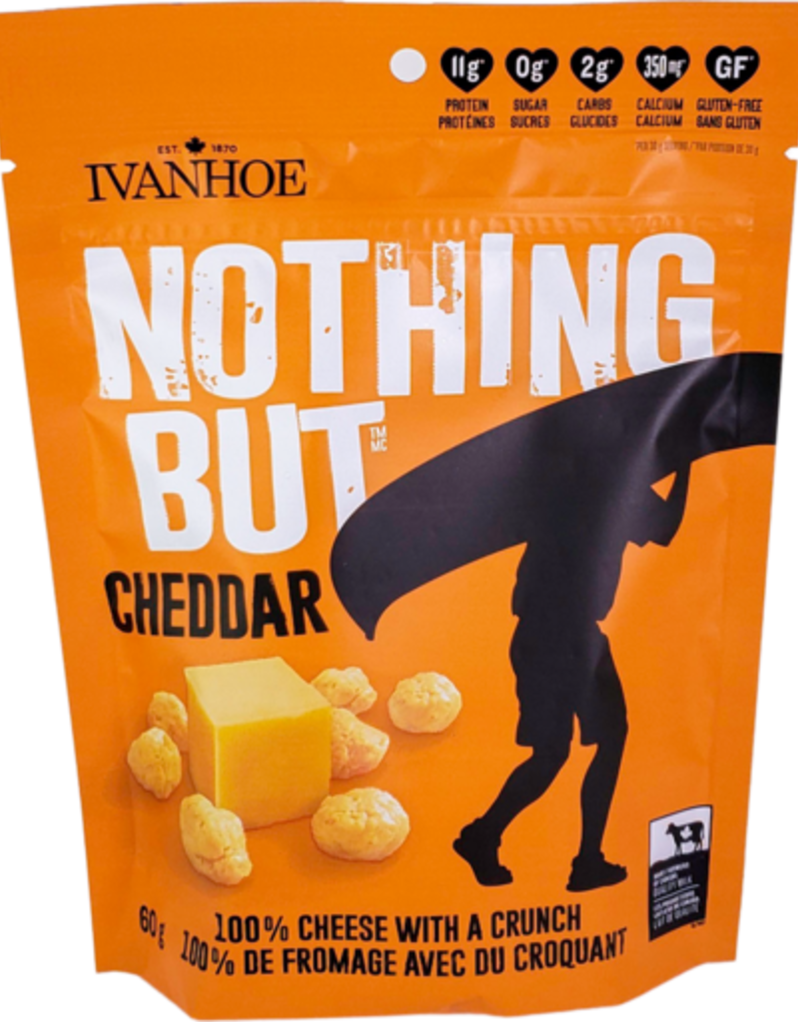 Ivanhoe Ivanhoe - Collation Croquante de Fromage, Cheddar (60g)