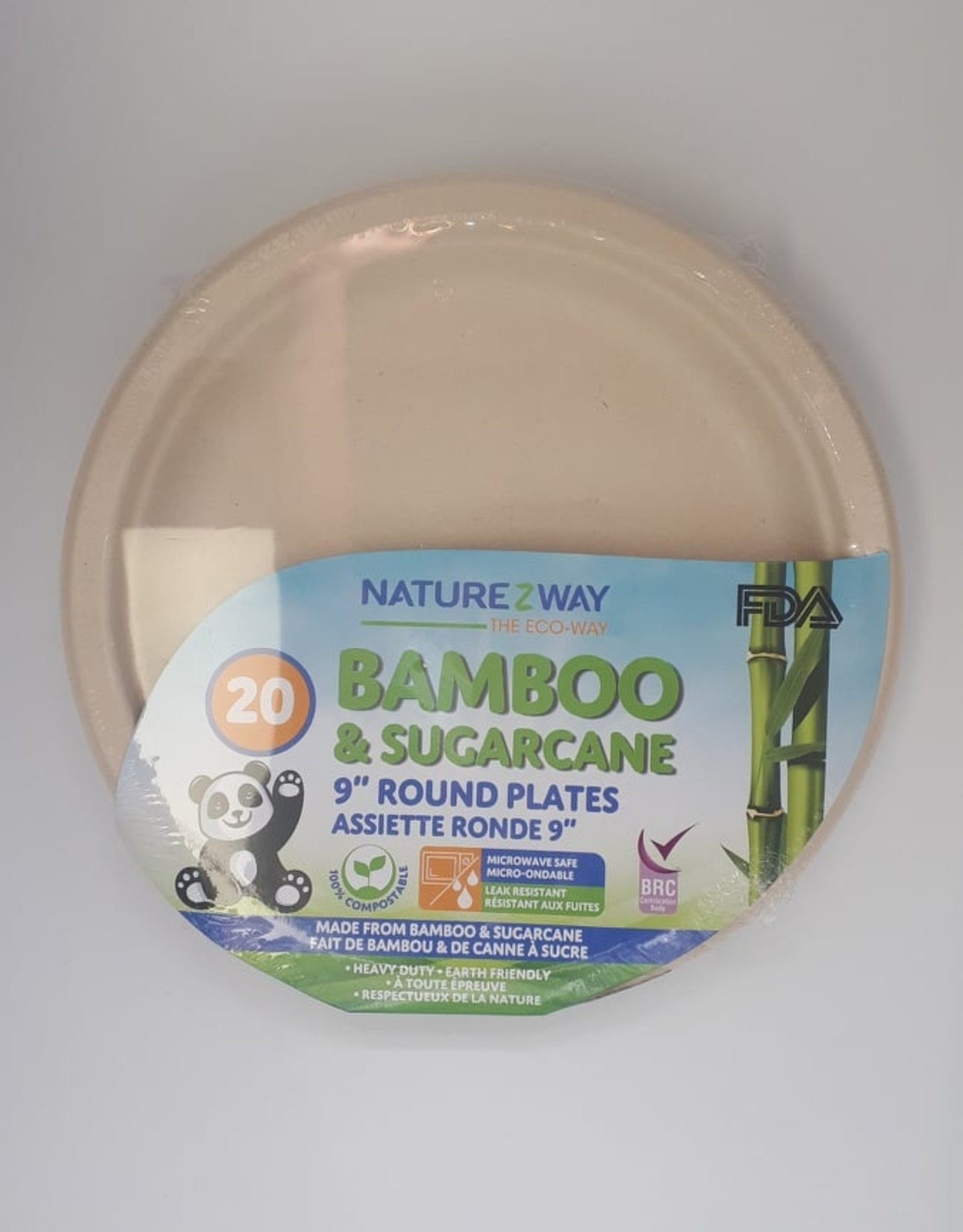 NatureZway Naturezway - Assiettes Rondes En Bambou (20un)