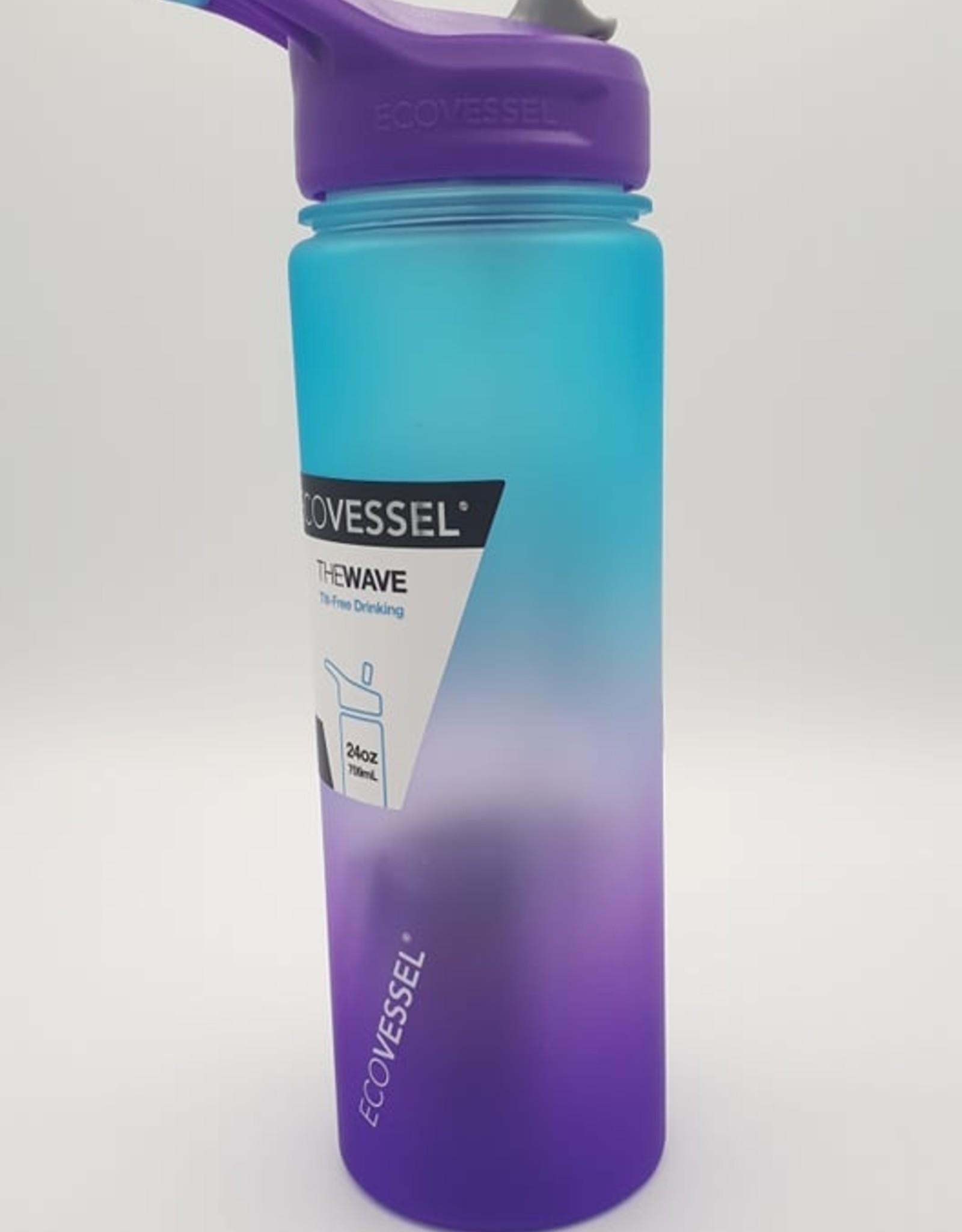 Ecovessel Eco Vessel - Bouteille de Plastique Avec Paille, Lavande (710ml)