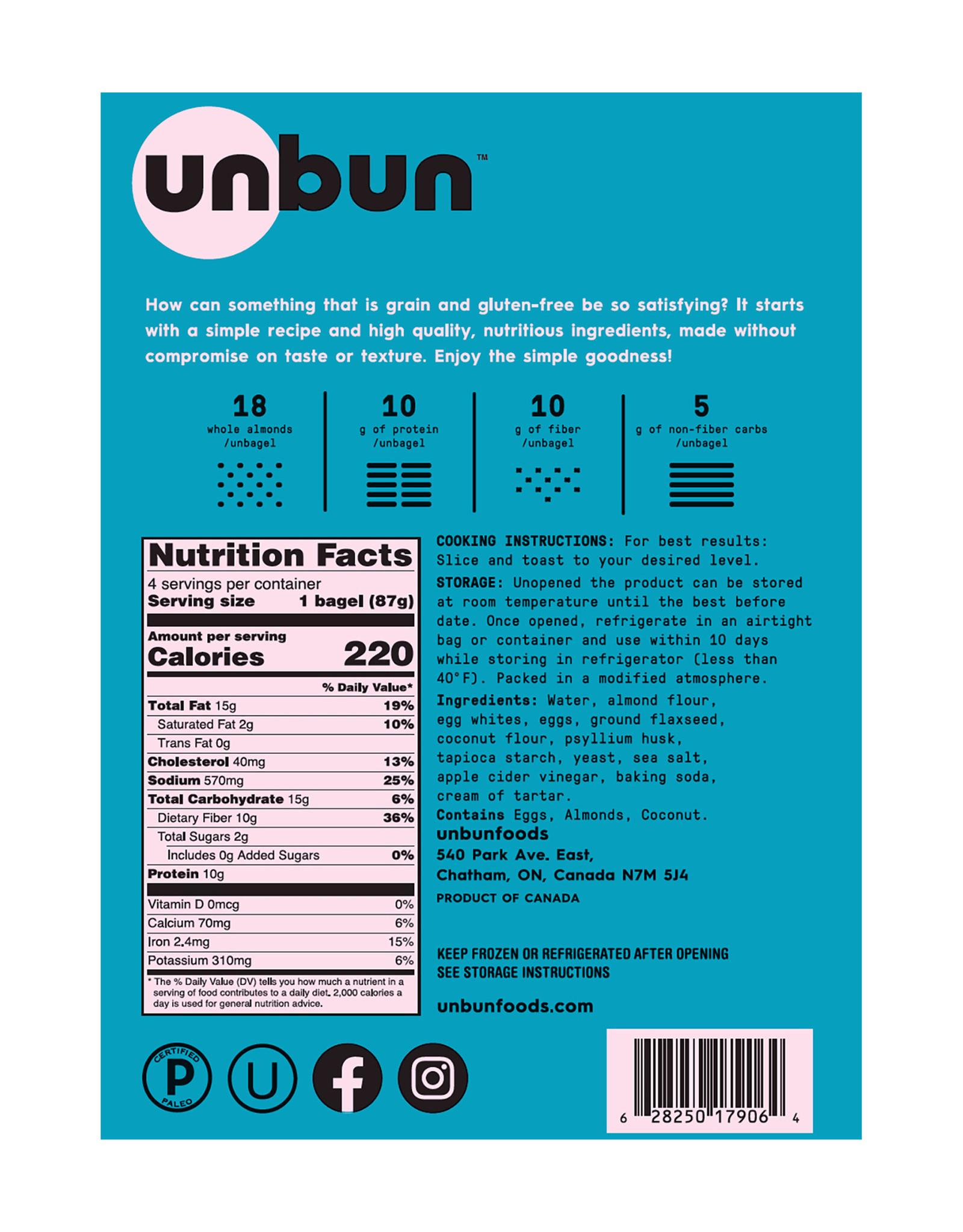 Unbun Unbun - Bagels, Nature (350g)